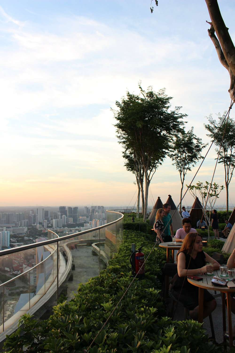 sunset from the rooftop bar at Andaz Singapore by Hyatt