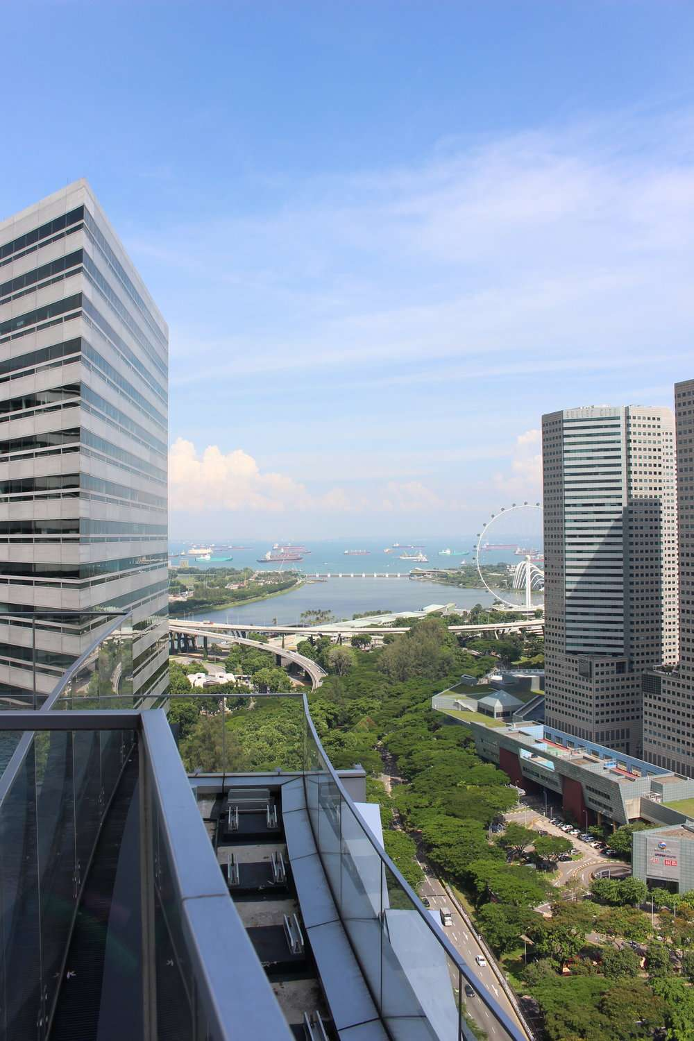 overlooking the Singapore waterfront from Andaz Singapore by Hyatt