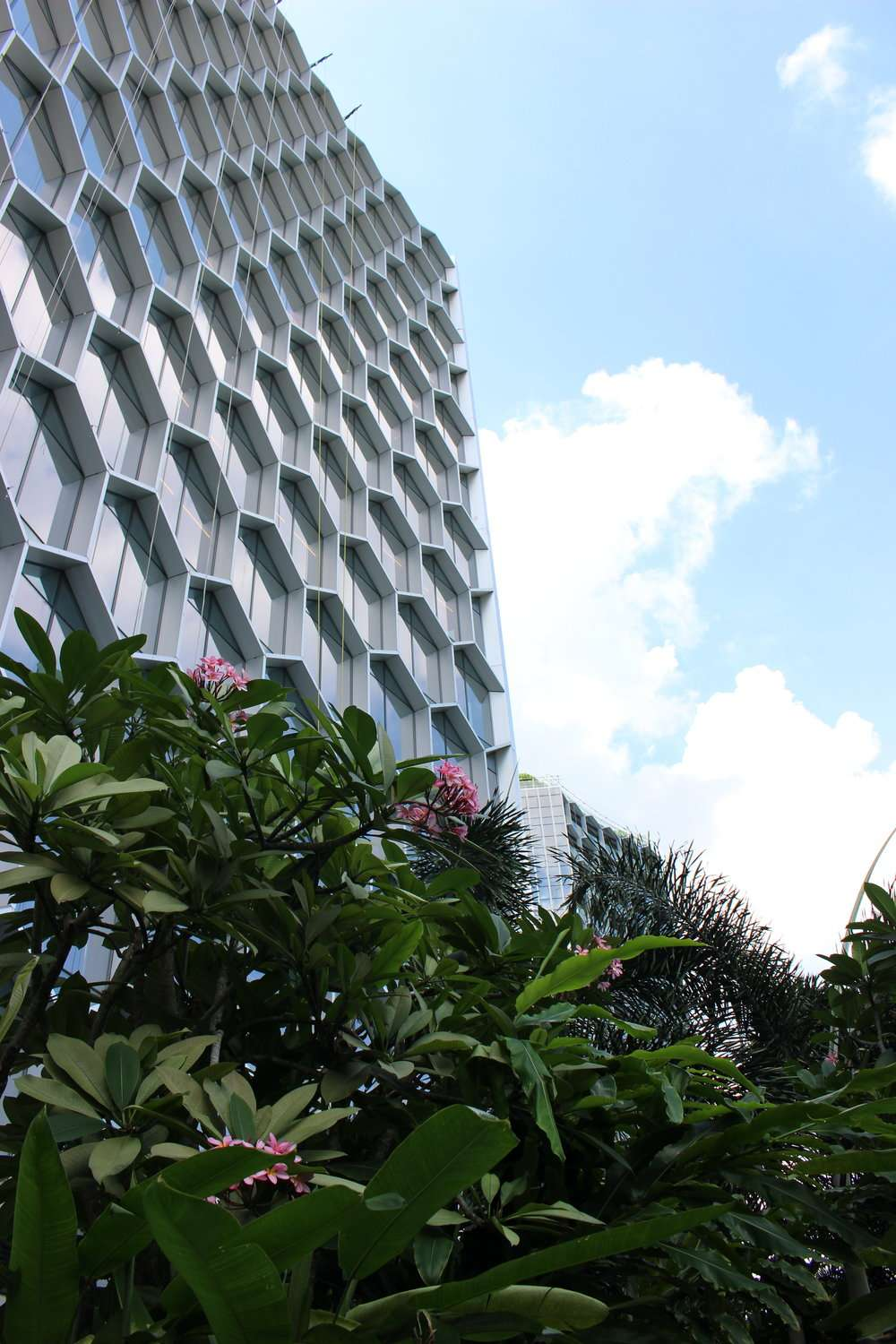 bee hive design building at Andaz Singapore by Hyatt