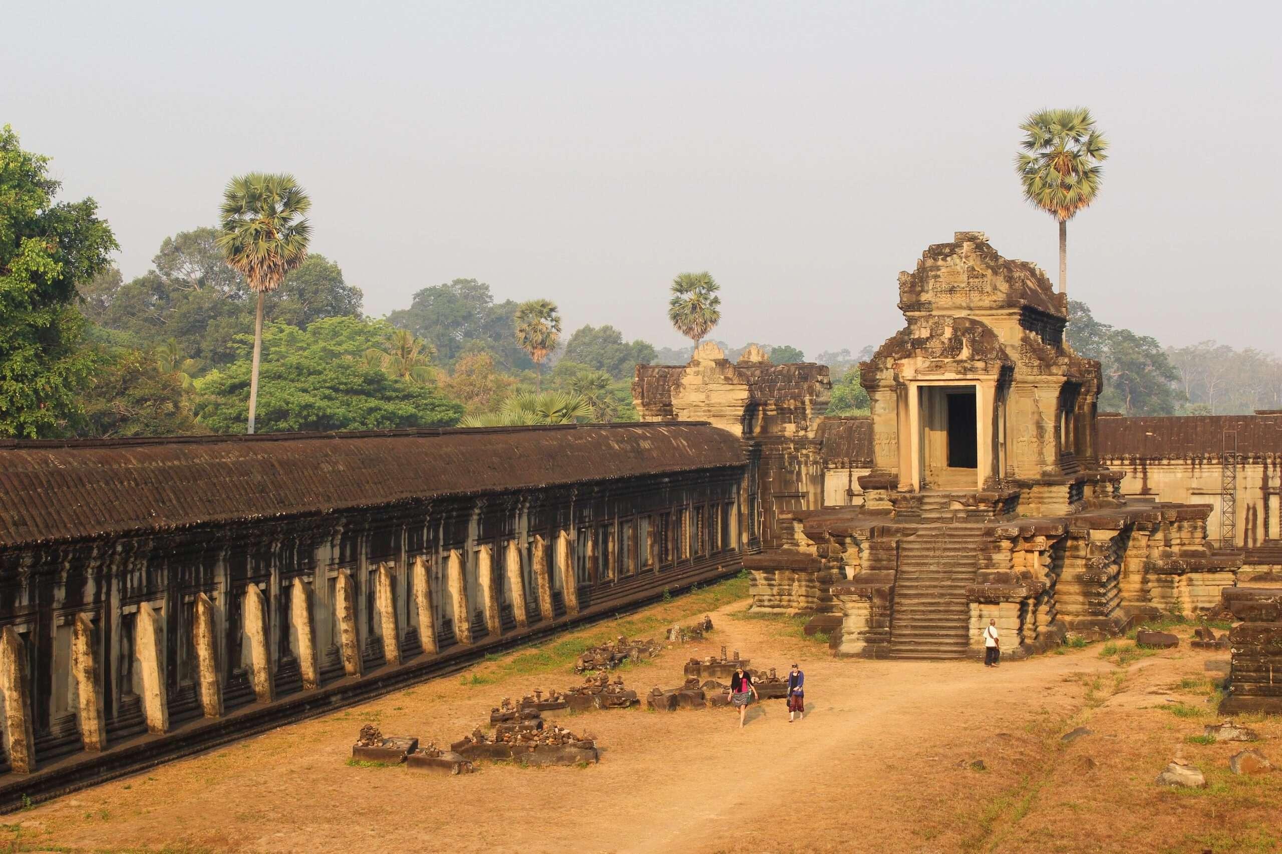 soft warm light over Angkor Wat temple at sunrise