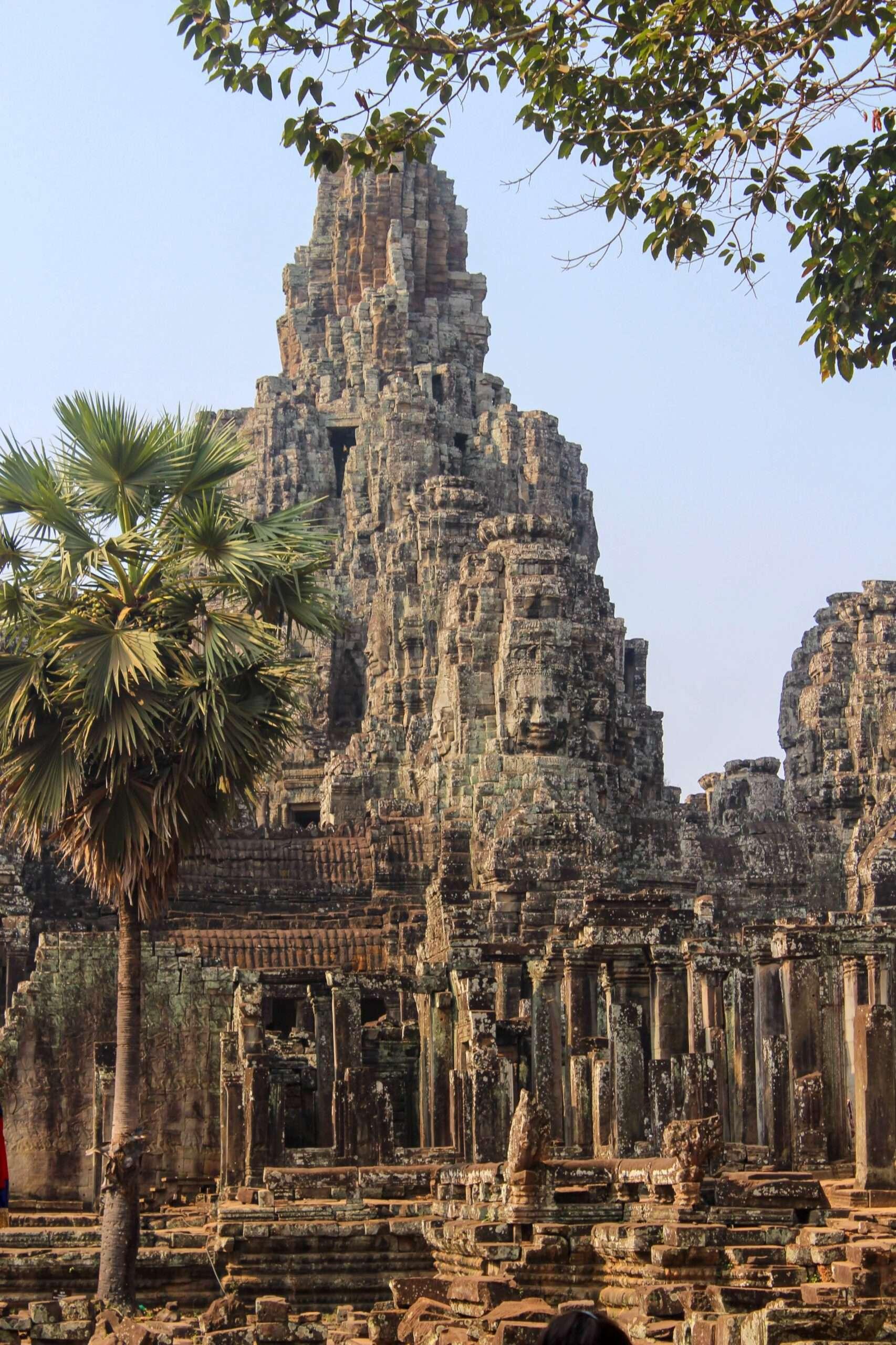 rock formation as part of the ruins at Angkor Wat, Cambodia