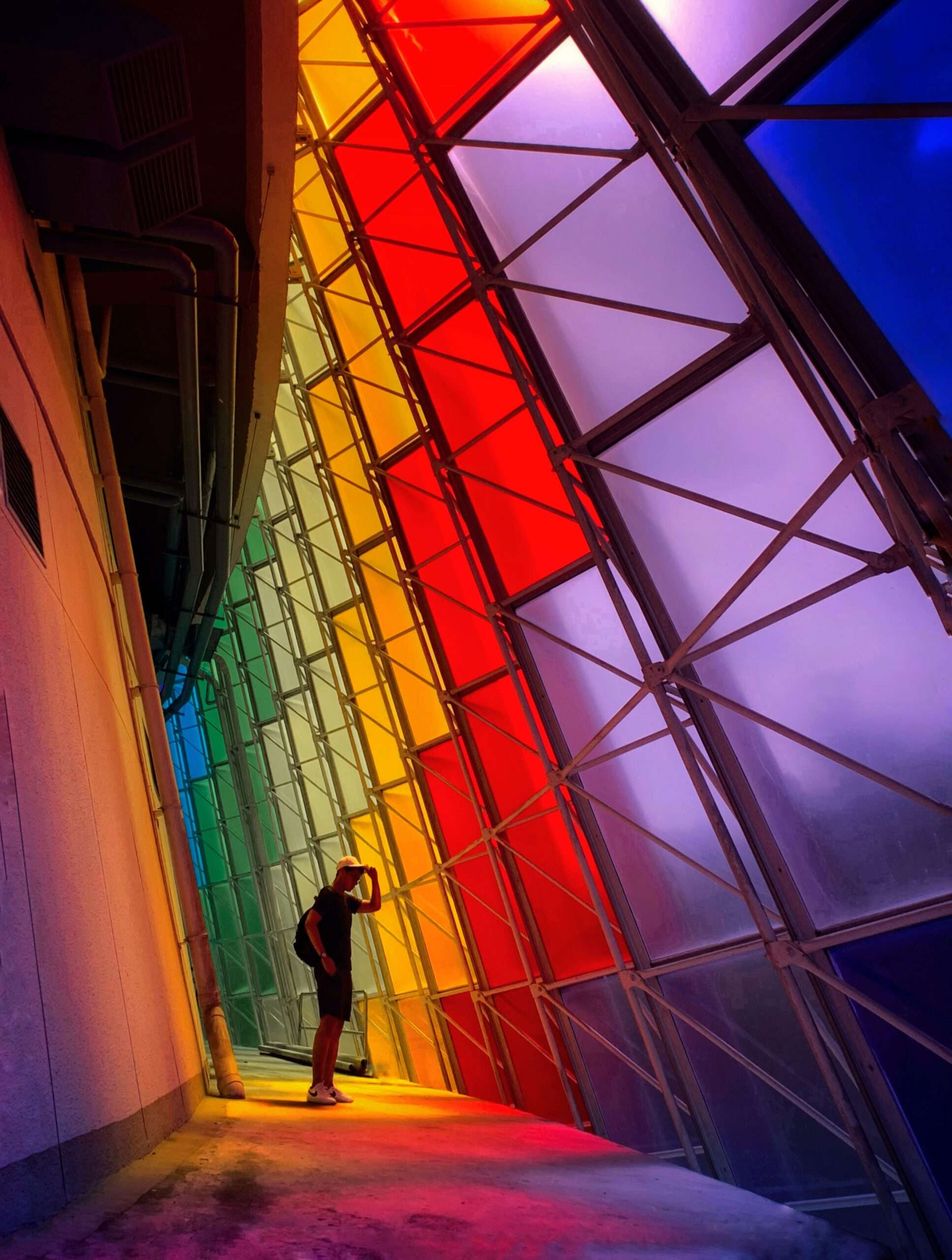 rainbow stained glass windows in Kuala Lumpur