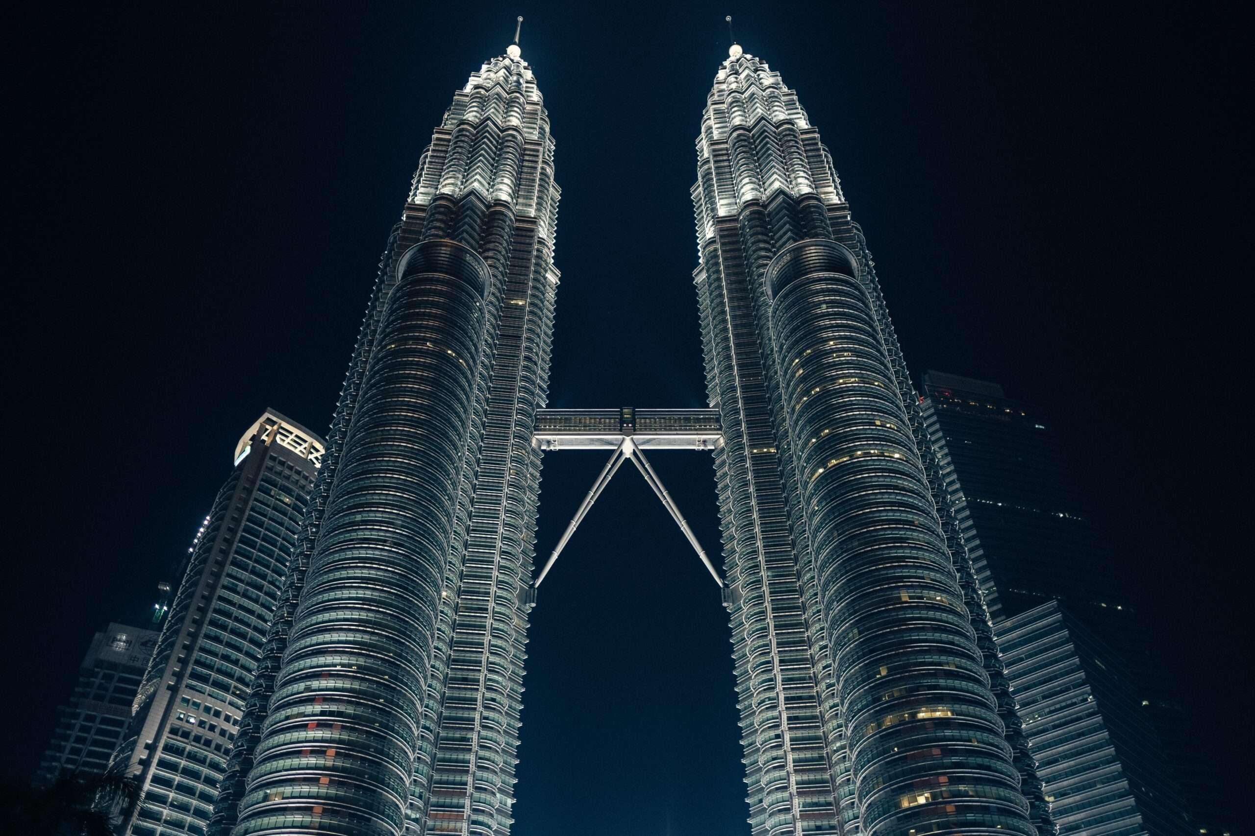 Petronas Twin Towers at night, Kuala Lumpur