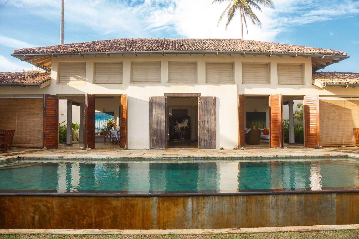 long swimming pool outside Ambalama Villa Sri Lanka