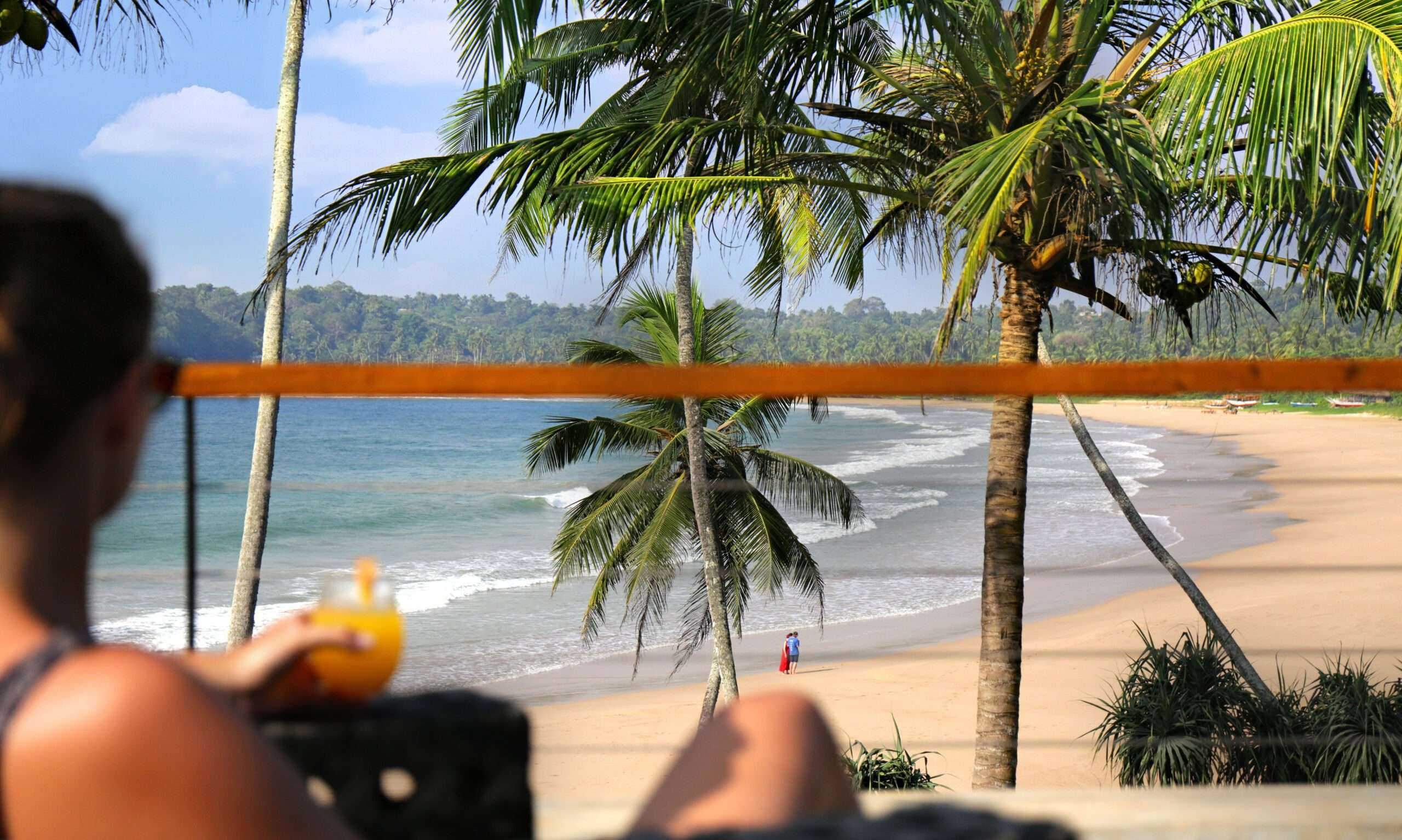 Beach and ocean views from Talalla House in Sri Lanka