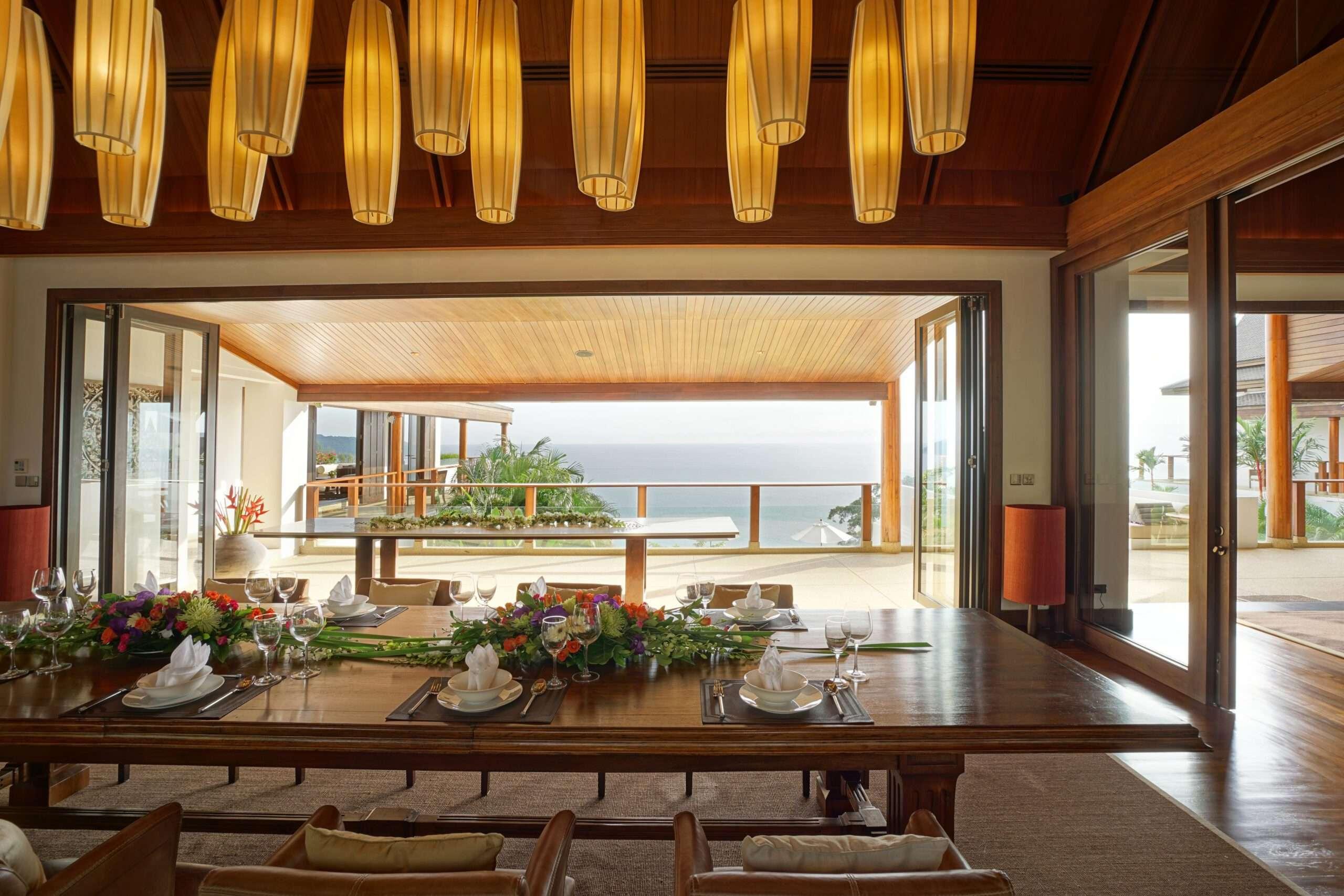 Dining room at Villa Aye in Phuket, Thailand