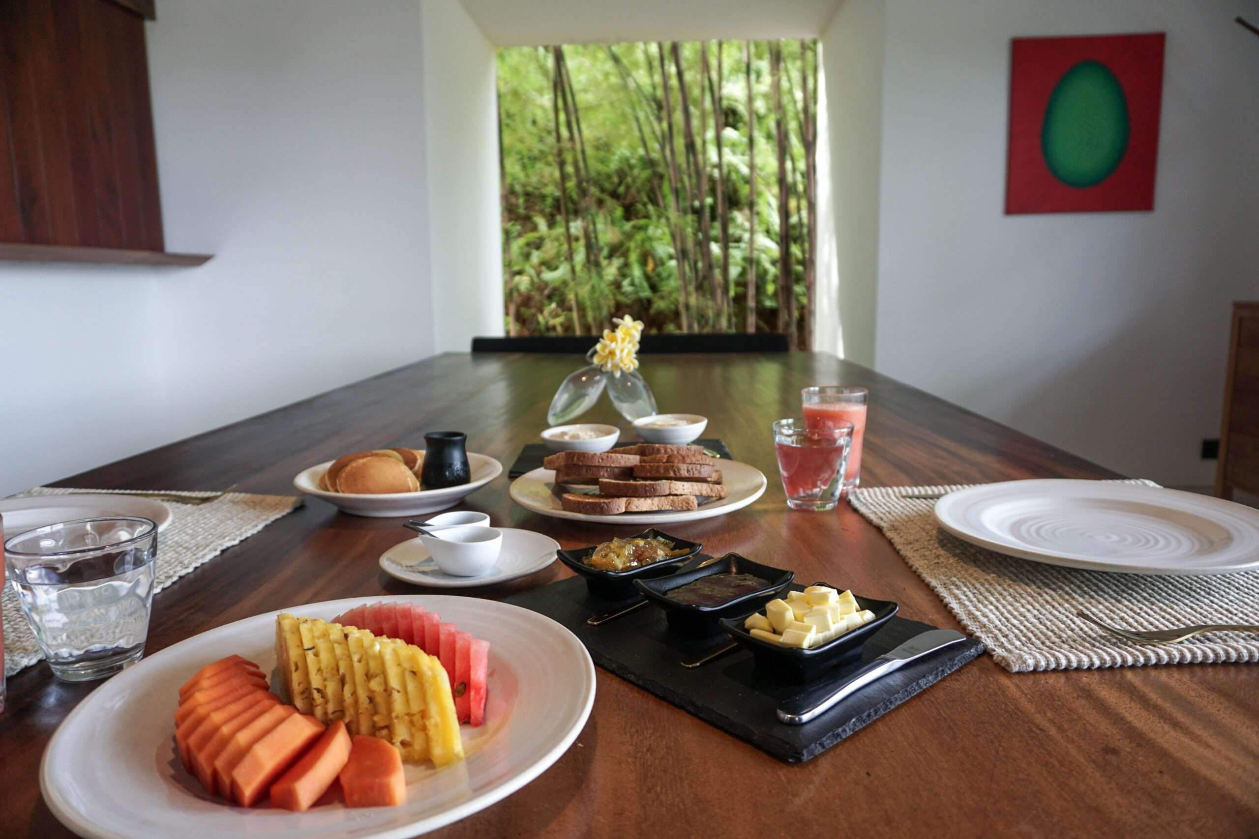 breakfast at Villa Wambatu, one of the top villas in the world