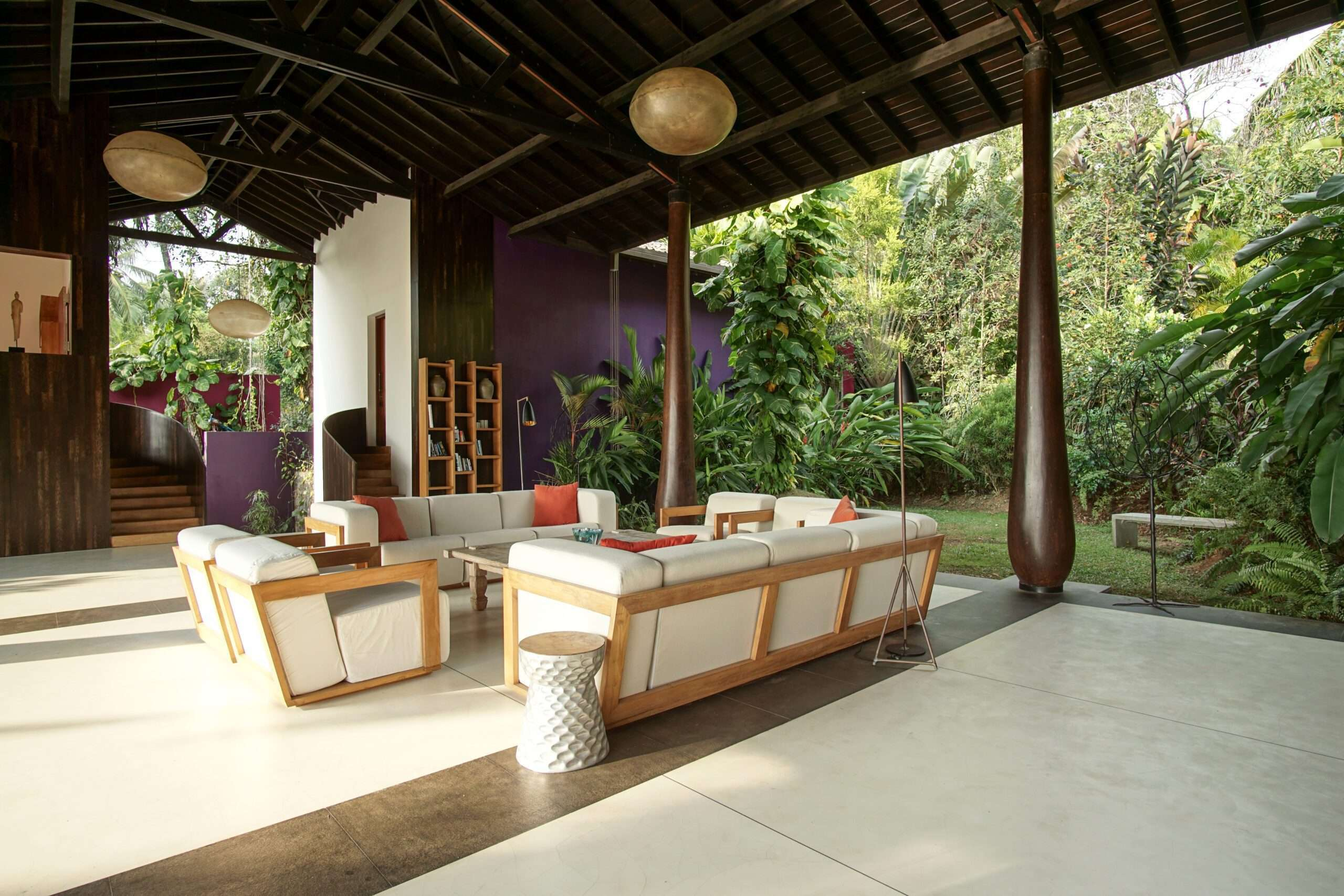 Lounge at Villa Wambatu, one of the top villas in the world