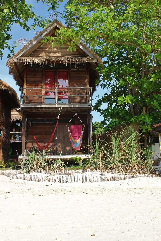Beachfront cabanas at Castaway Resort, Koh Lipe, Thailand