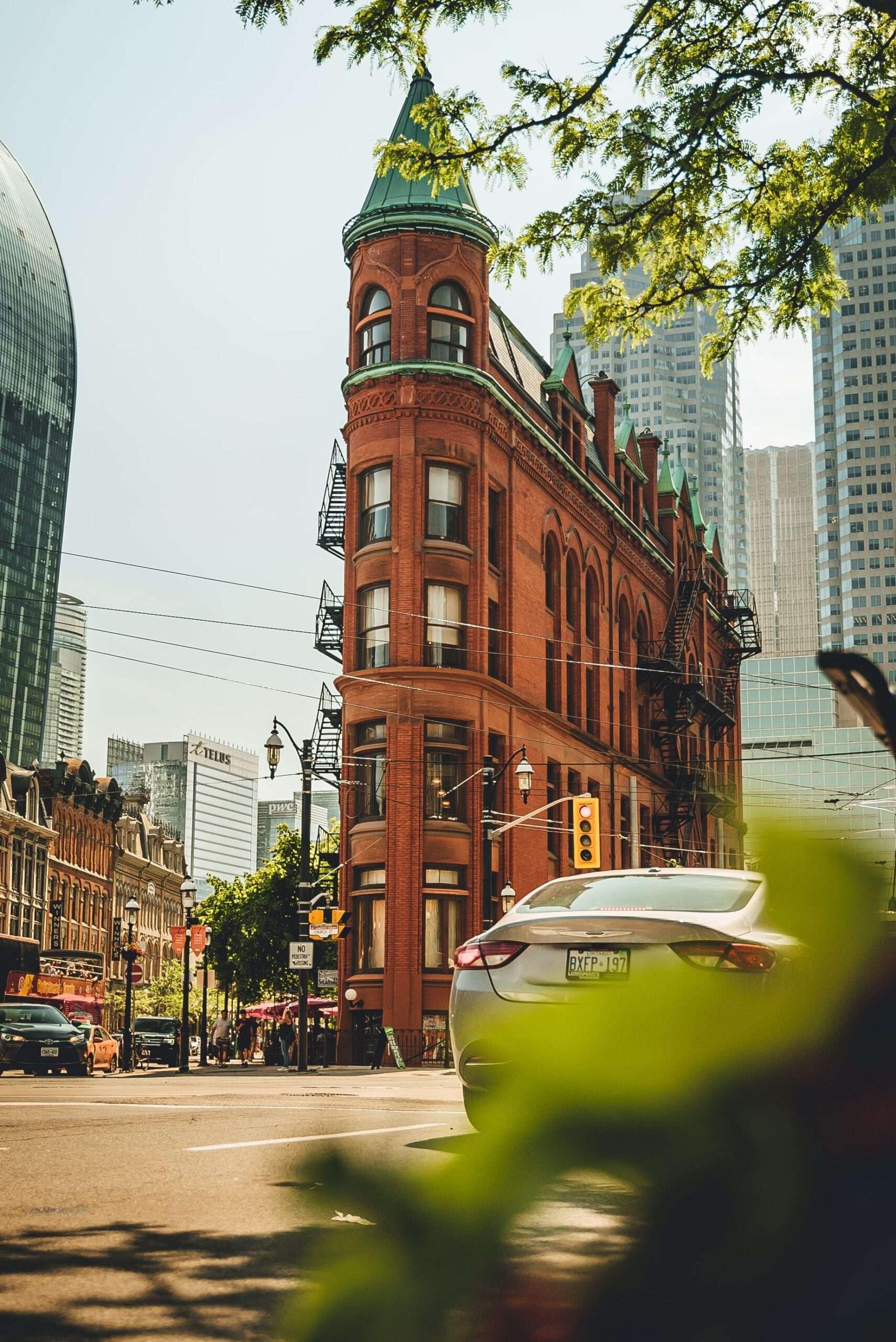 Godderham building in summer time Toronto