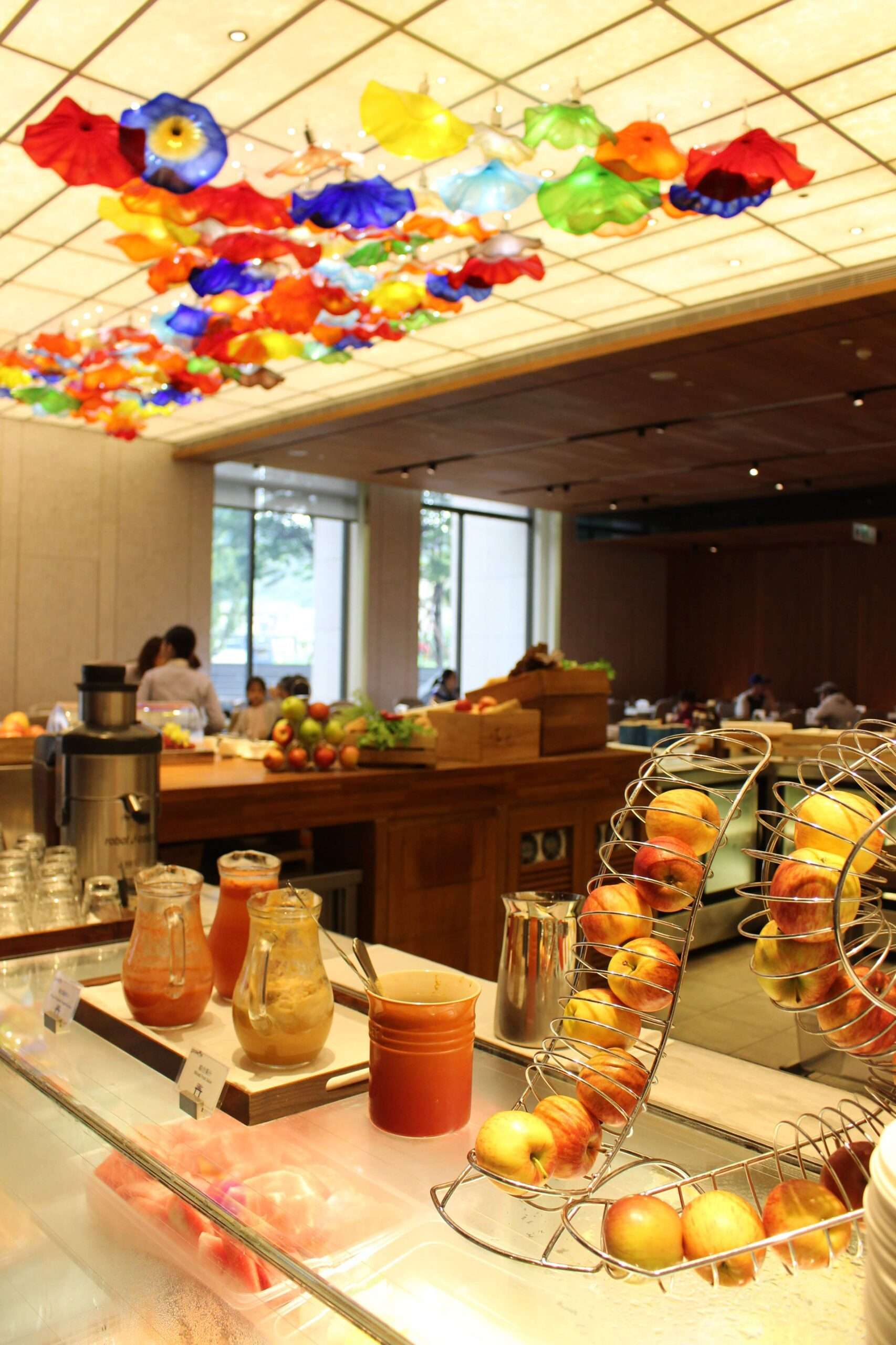 Fresh fruit juice at the breakfast buffest at Grand Mayfull Hotel in Taipei