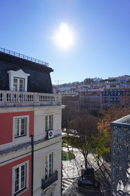 Hotel room view of Avenida Liberdade