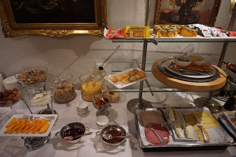 Continental breakfast at Hotel Die Swaene in Bruges