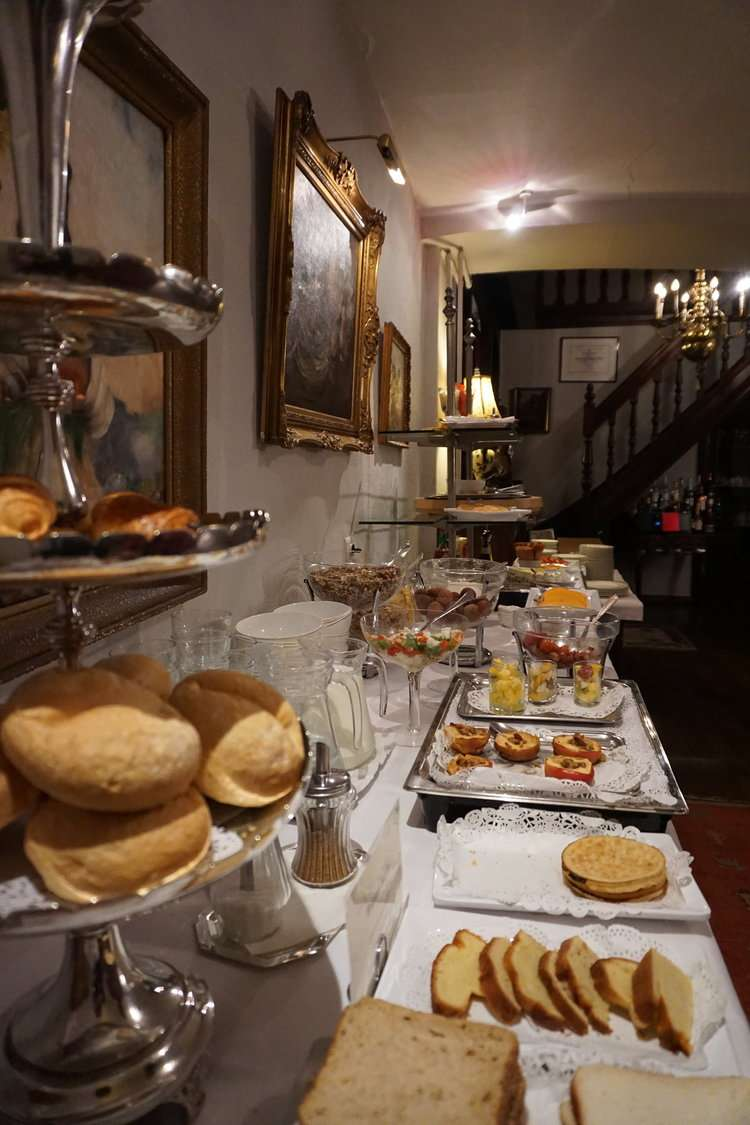 Breakfast spread at Hotel DIe Swaene in Bruges