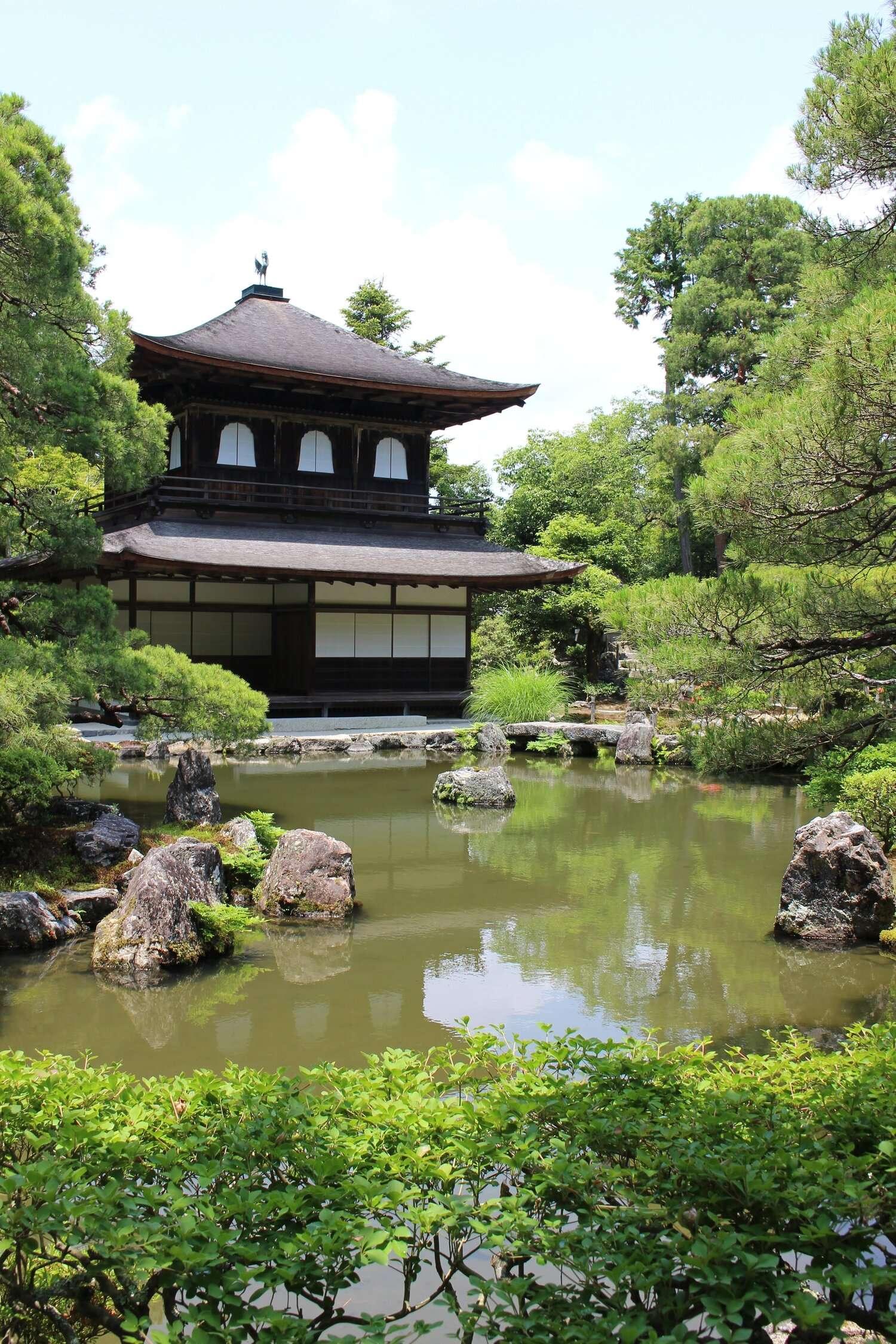 Japanese Temple in pristine gardens in Kyoto