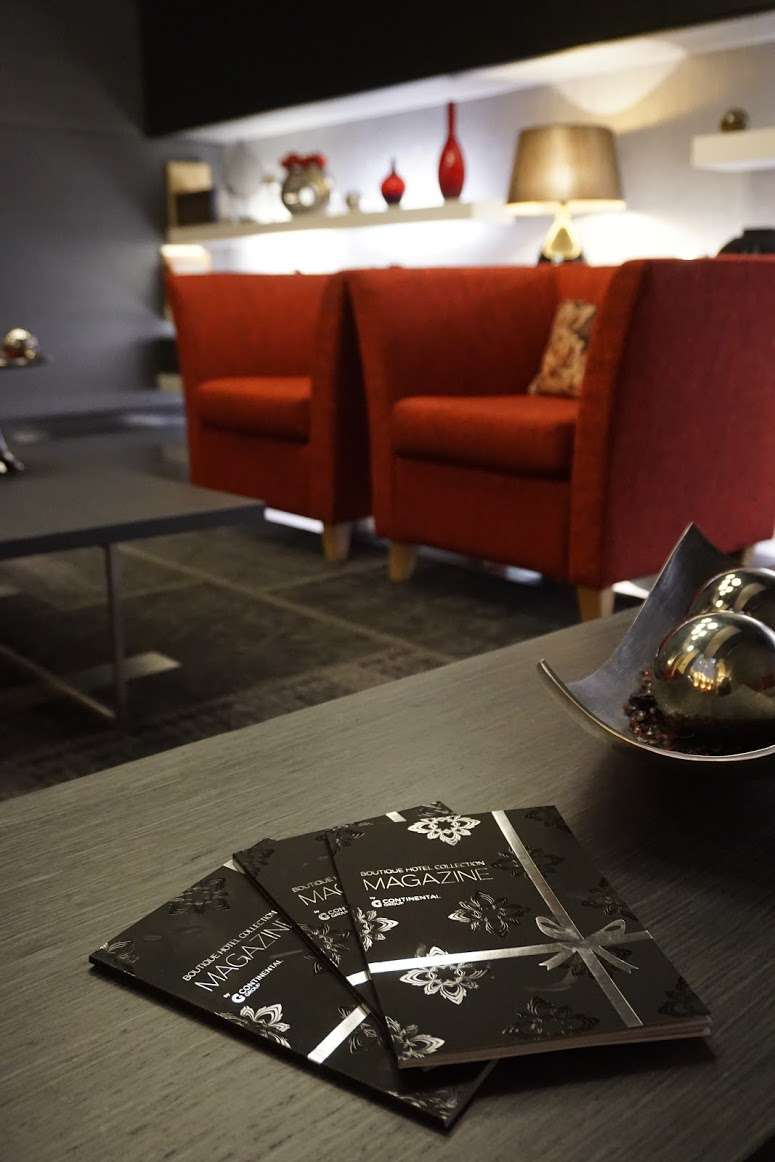 coffee table leaflets in the lounge at Hotel Palazzo Zichy Budapest