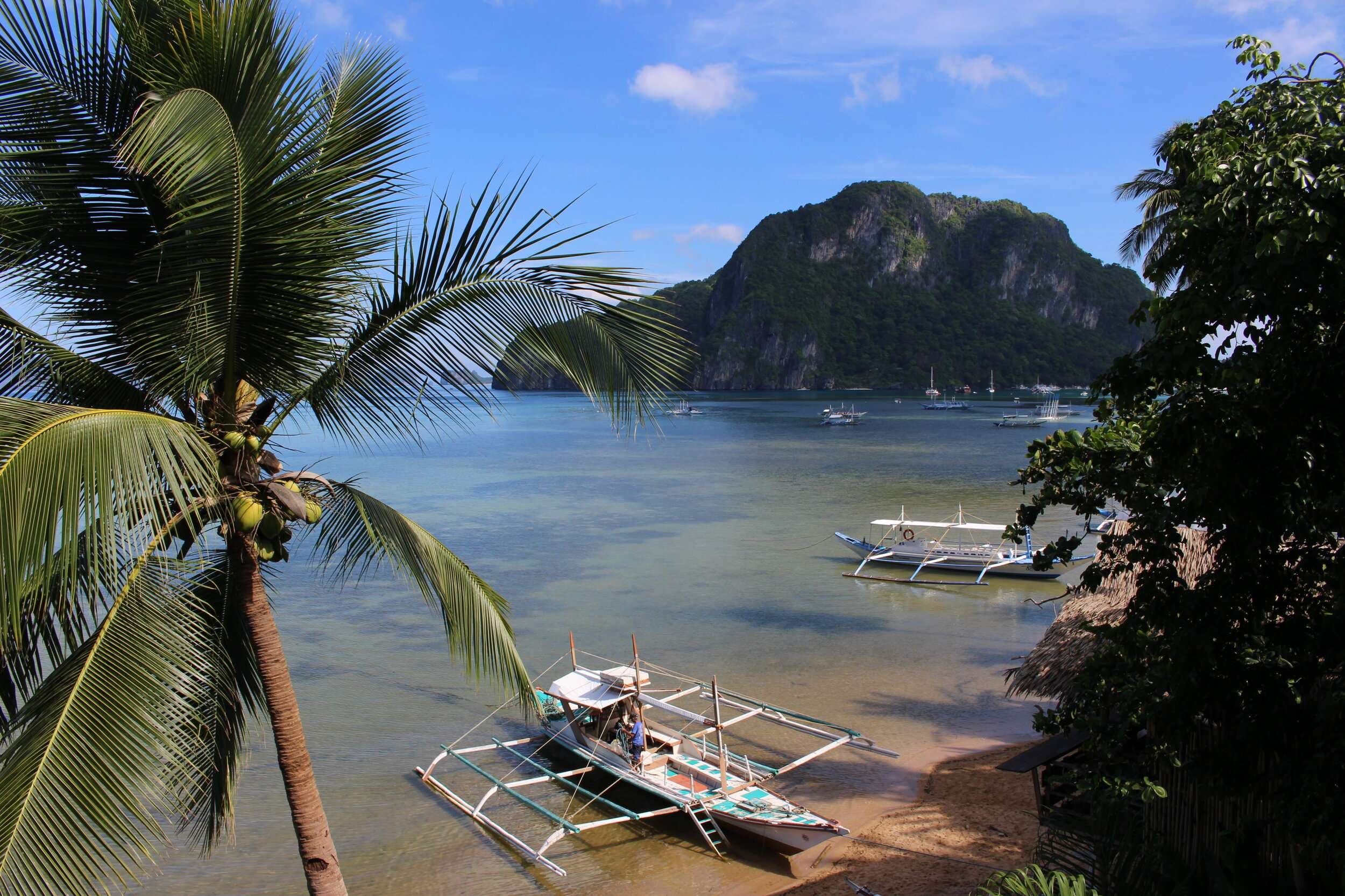 Beach in El Nido at Frangipani Hotel in the Philippines