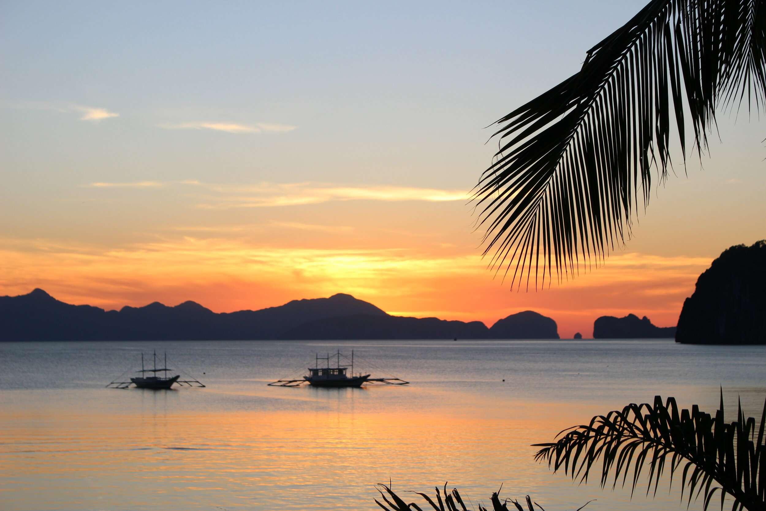 Frangipani El Nido Beach Sunset