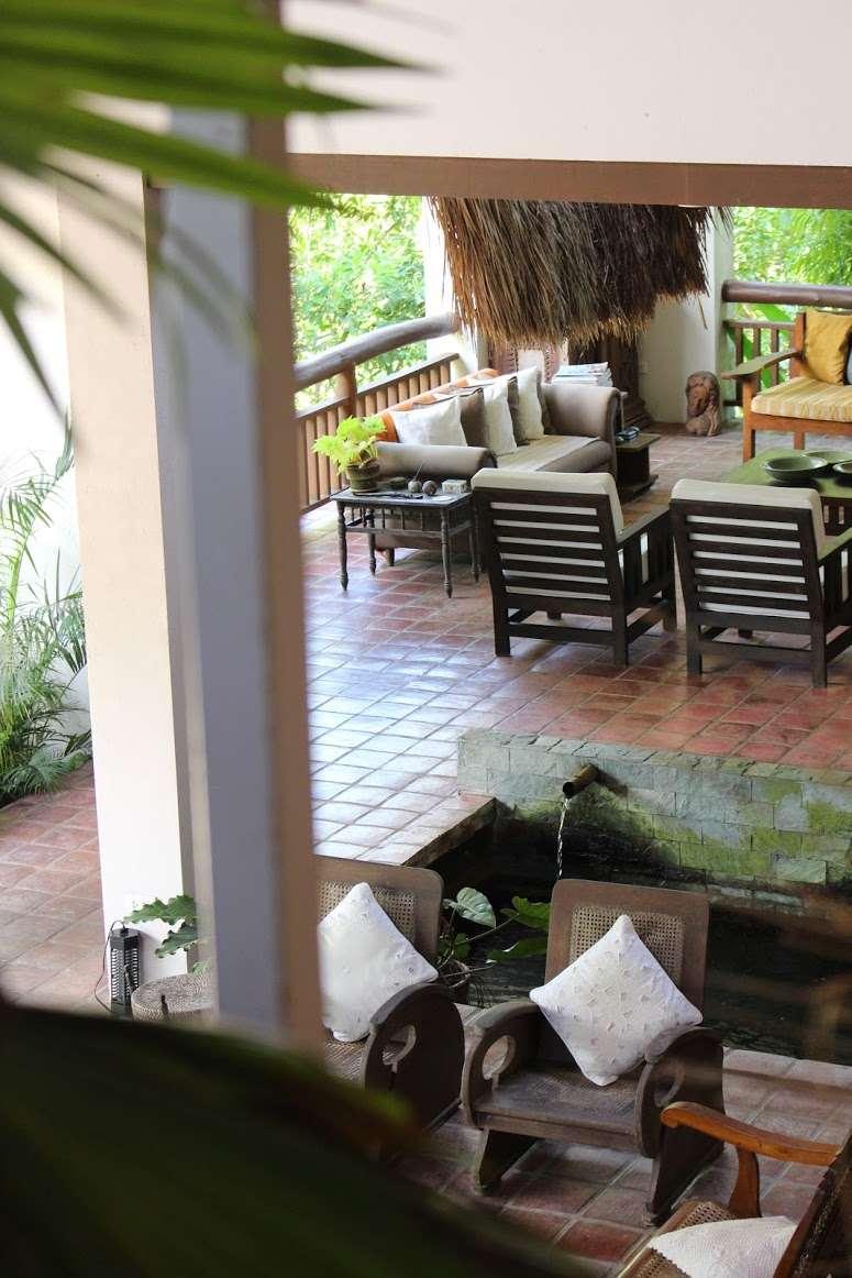 open plan living area at La Casita de Baclayon in Bohol, Philippines