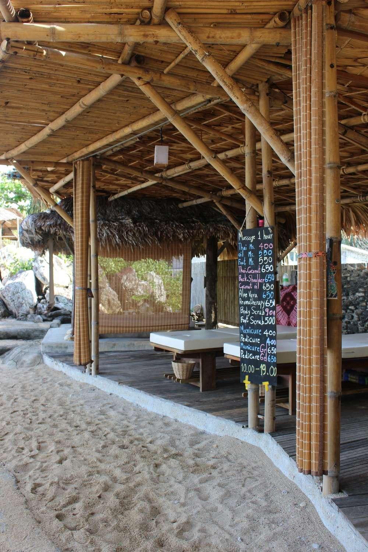 massage bed on the beach at Moonlight Exotic Bay Resort, Koh Lanta