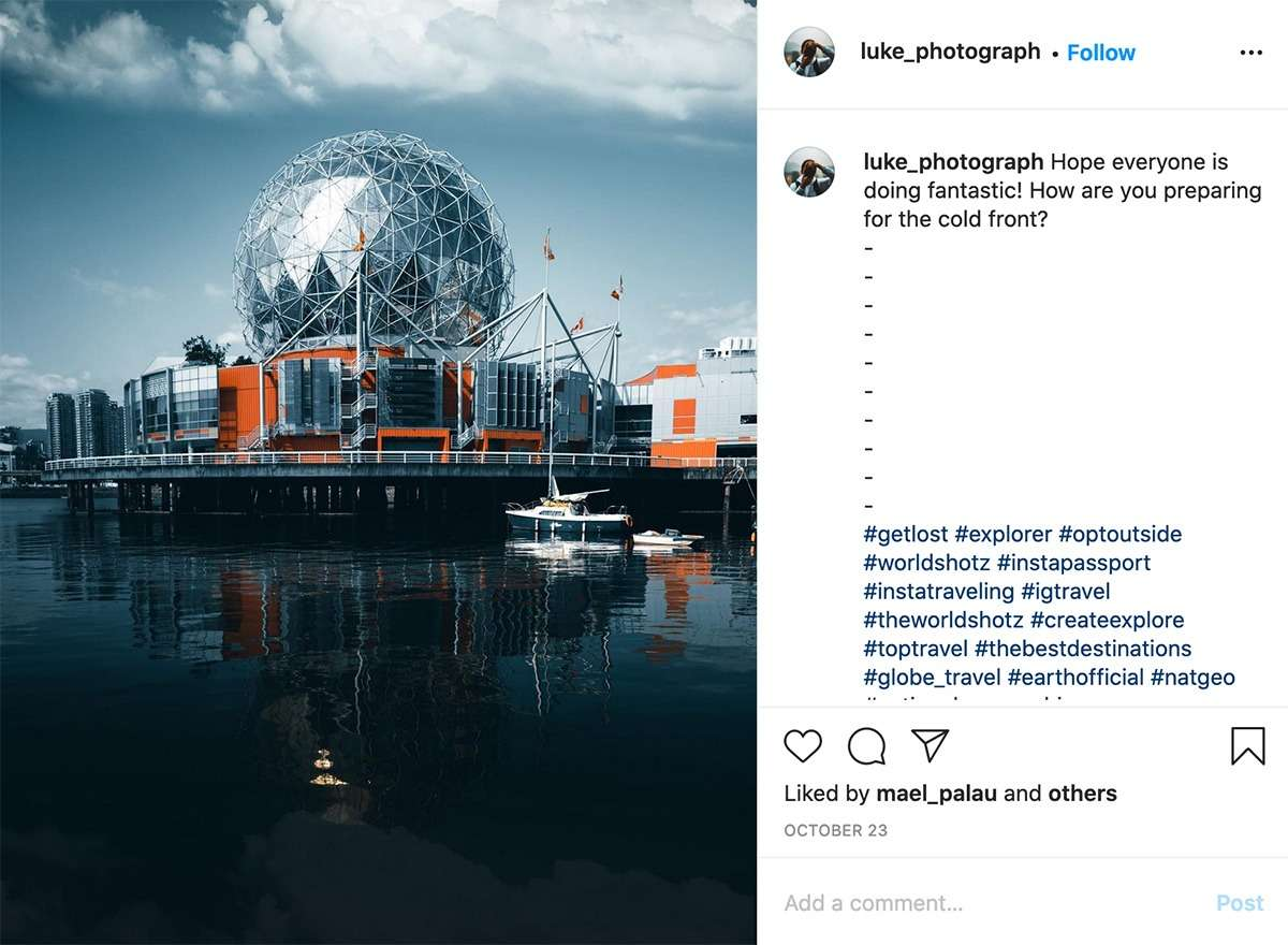 Science World in Vancouver, one of the most Instagrammable buildings