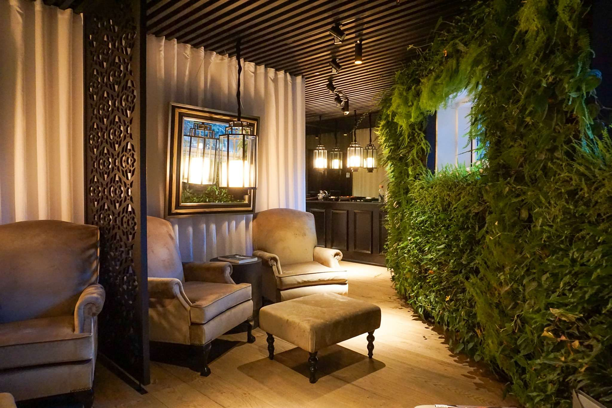 relaxation room in the spa at Nimb Hotel Copenhagen