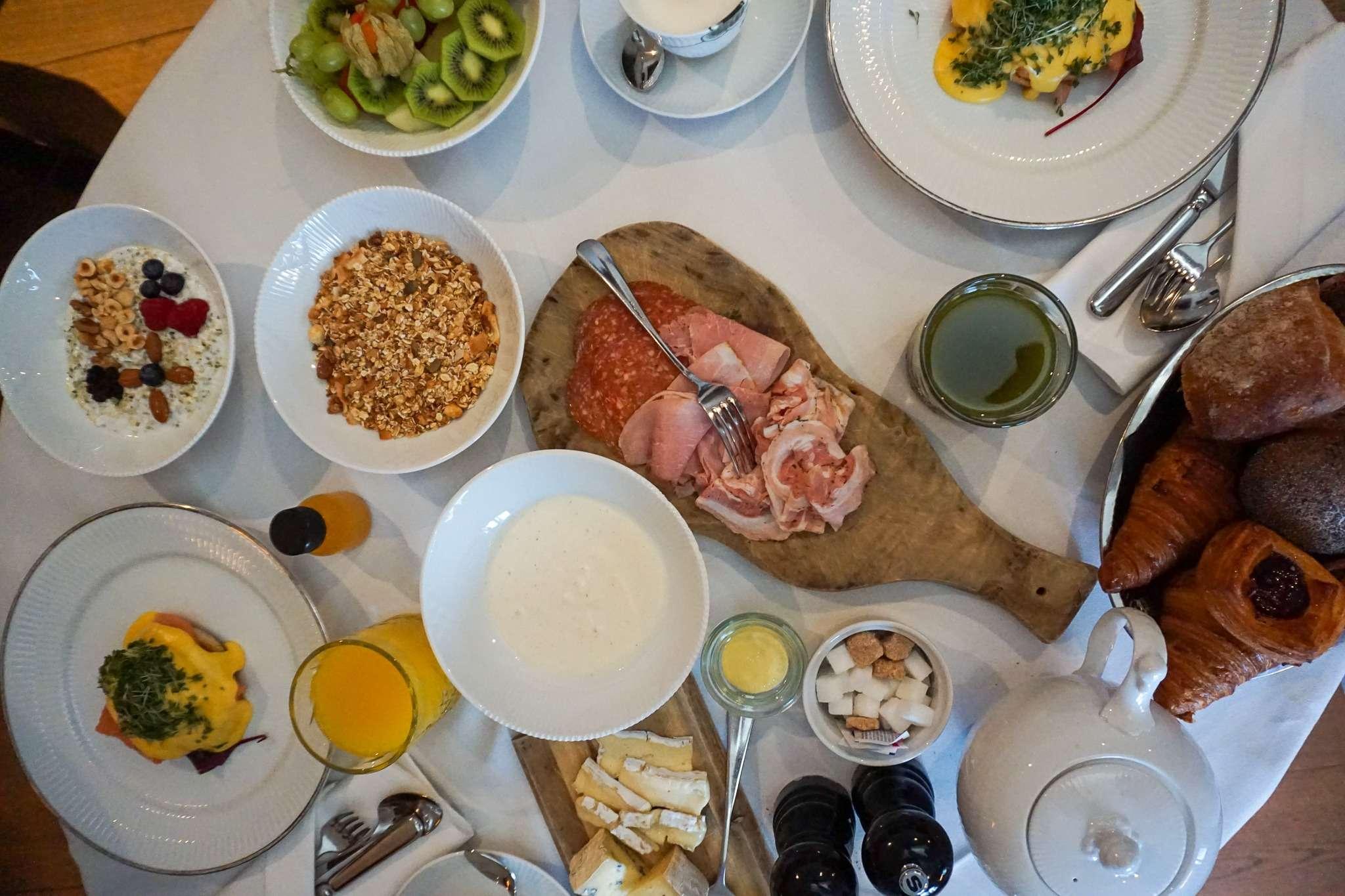 breakfast table at Nimb Hotel Copenhagen