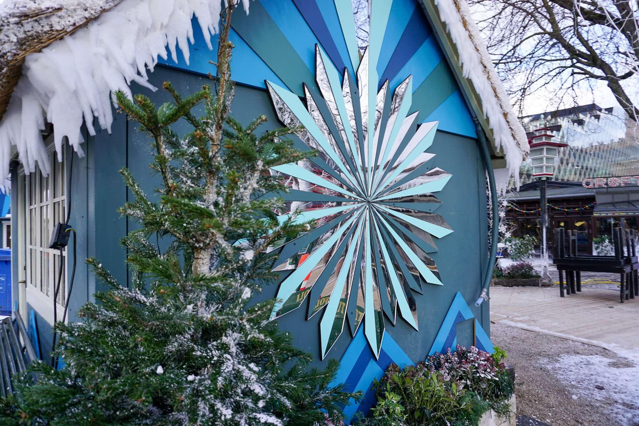snowflake Christmas decoration in Tivoli Gardens