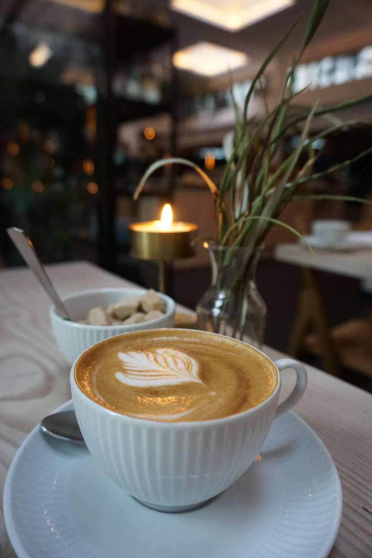 barista style cappuccino at Nobis Hotel Copenhagen