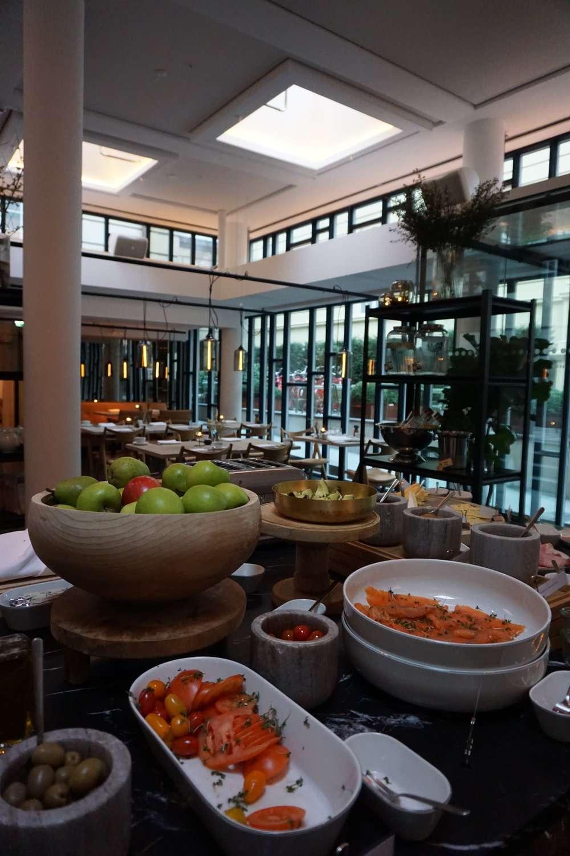 fresh fruit on the breakfast buffet table at Nobis Hotel Copenhagen