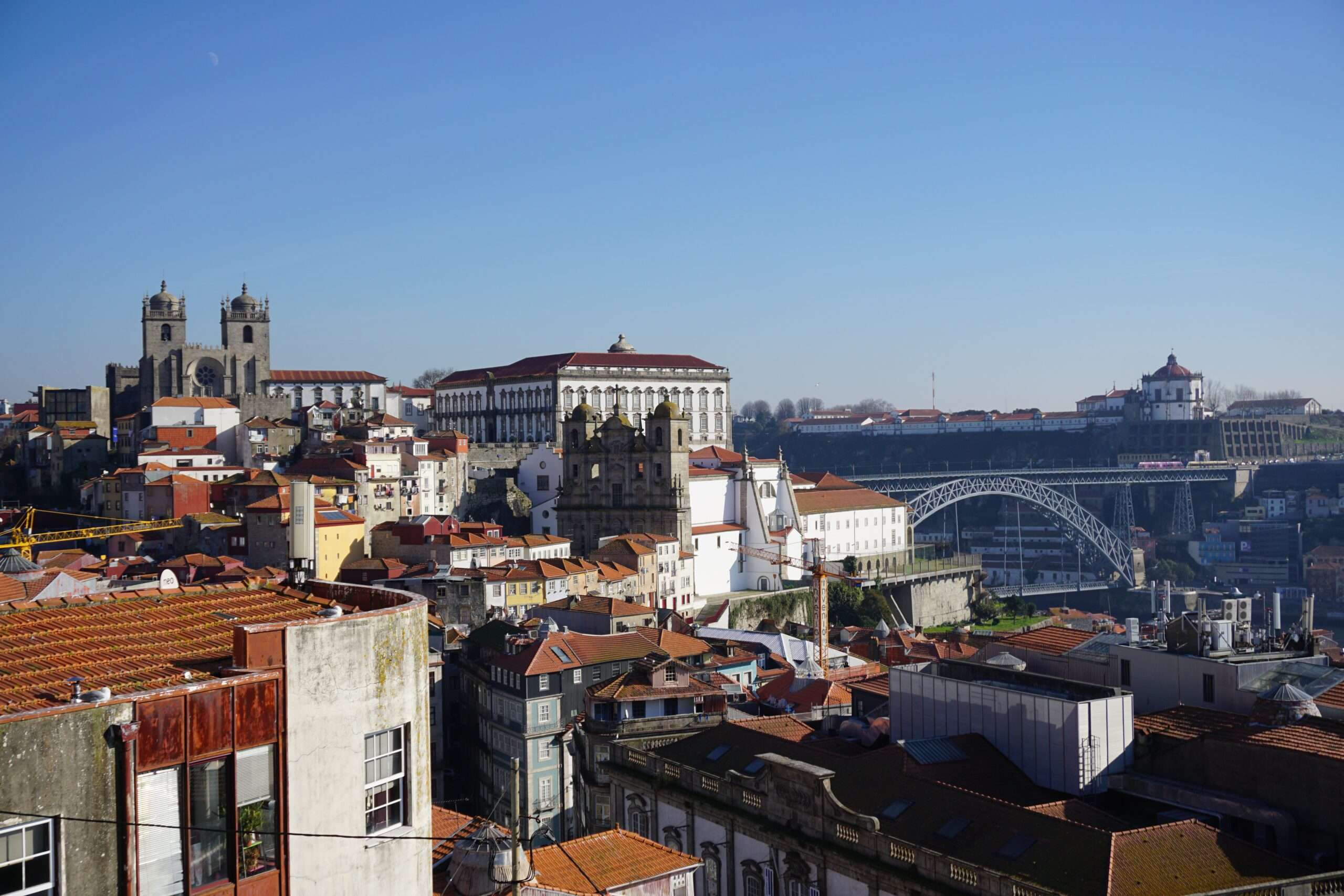 City of Porto from the hillside above the river Duoro