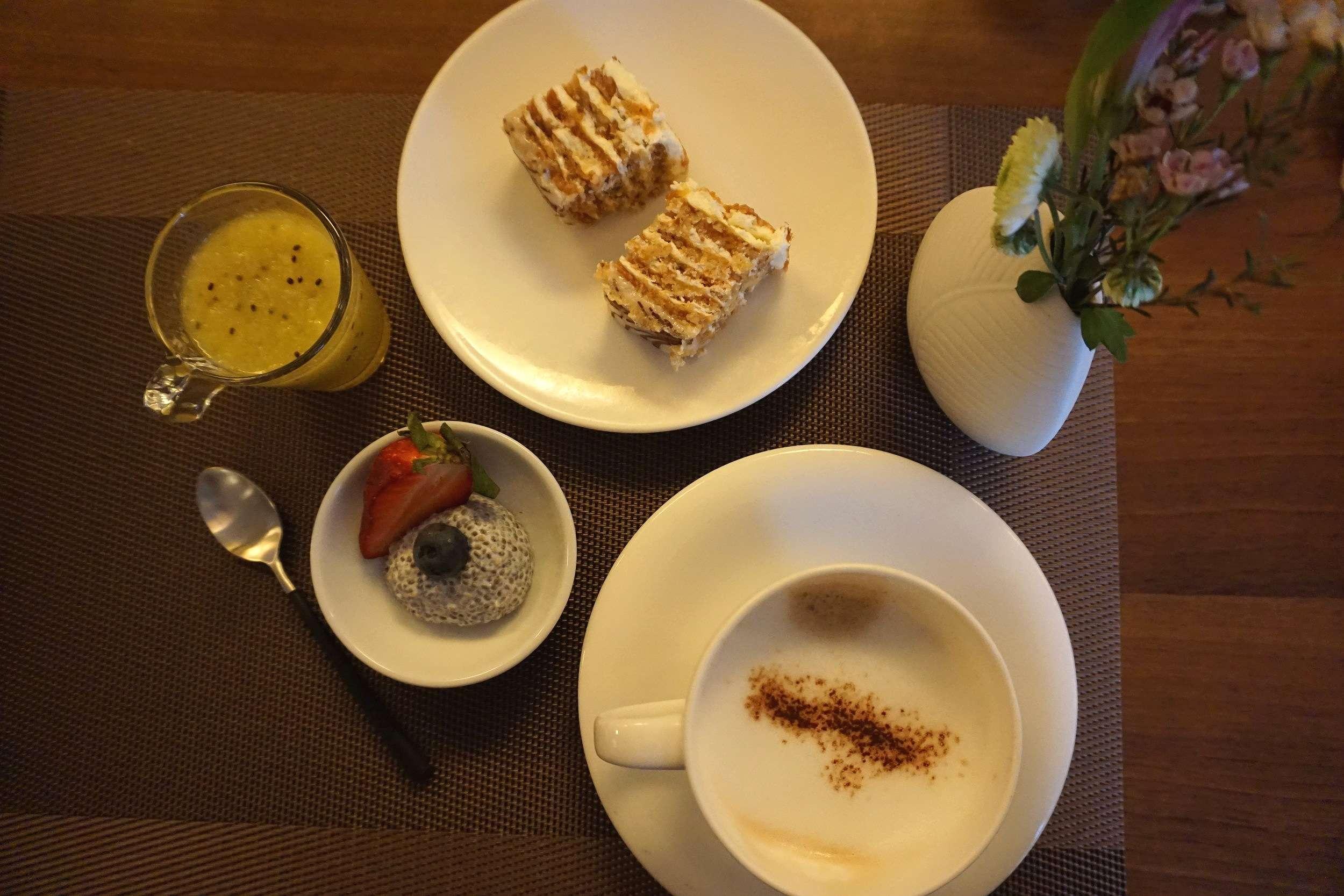 coffee and pastries at breakfast at Rathaus Wein & Design Hotel Vienna