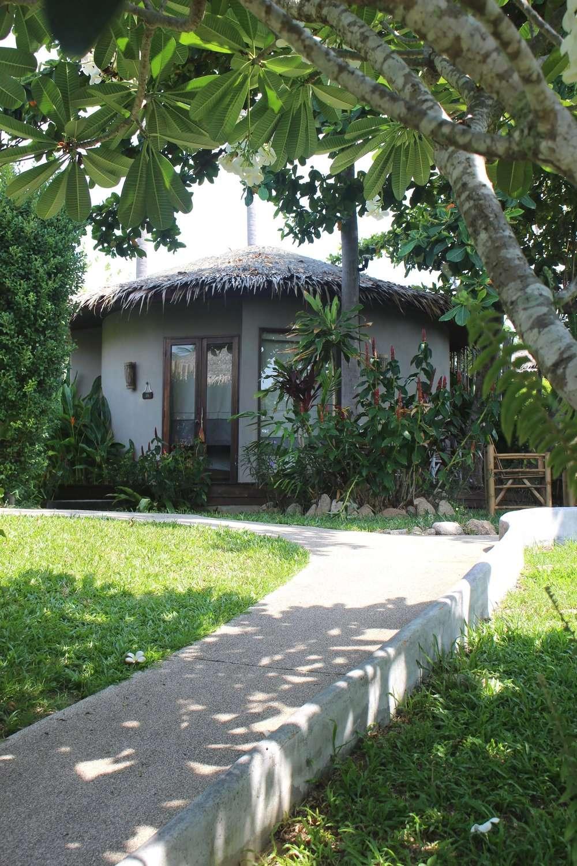 sustainable cabana built in lush gardens at Sea Dance Resort Koh Samui