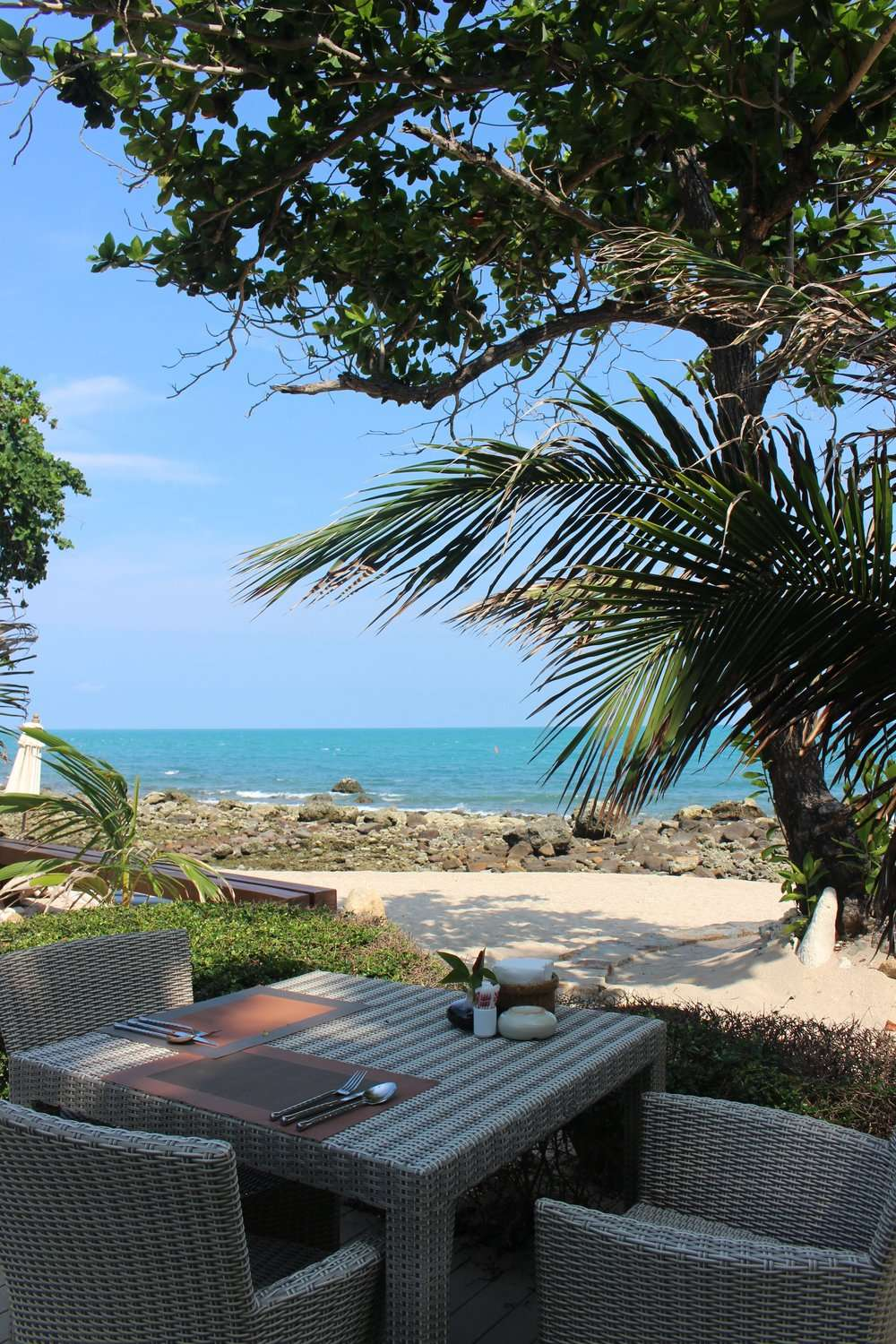 lunch with a sea view at Sea Dance Resort Koh Samui