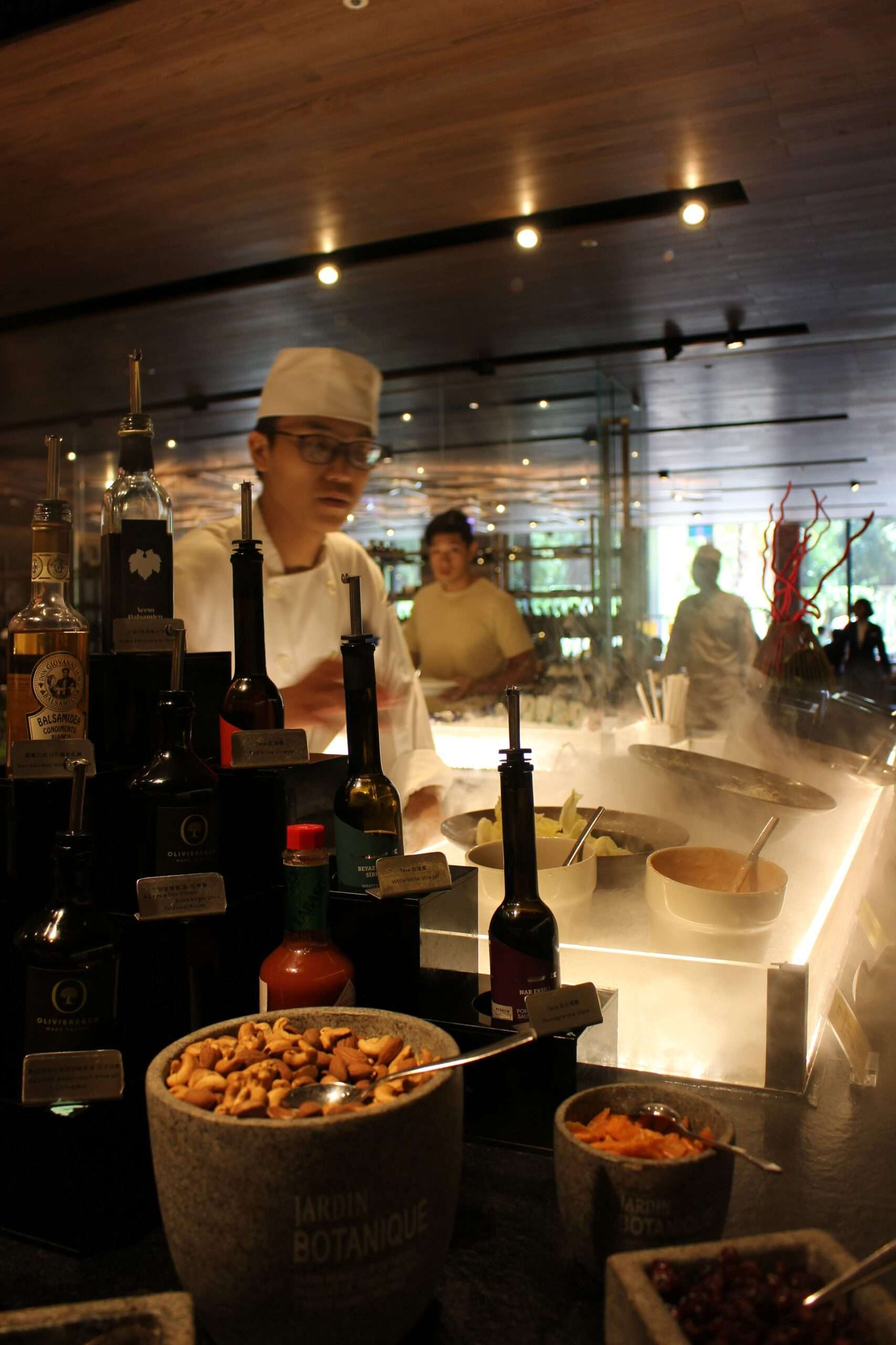 Chef prepares food for breakfast at Silks Place Tainan