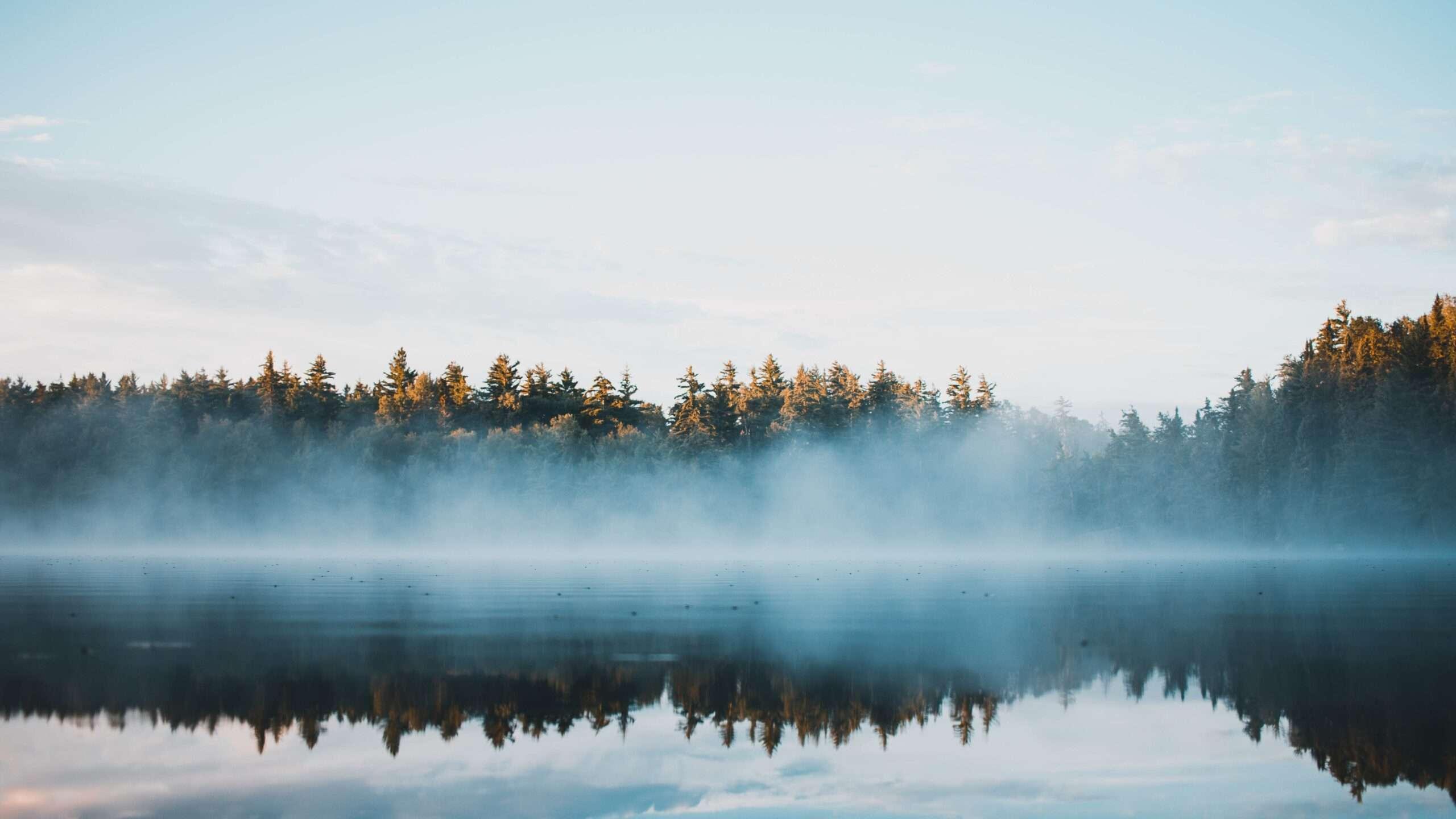 Misty lake in Ontario