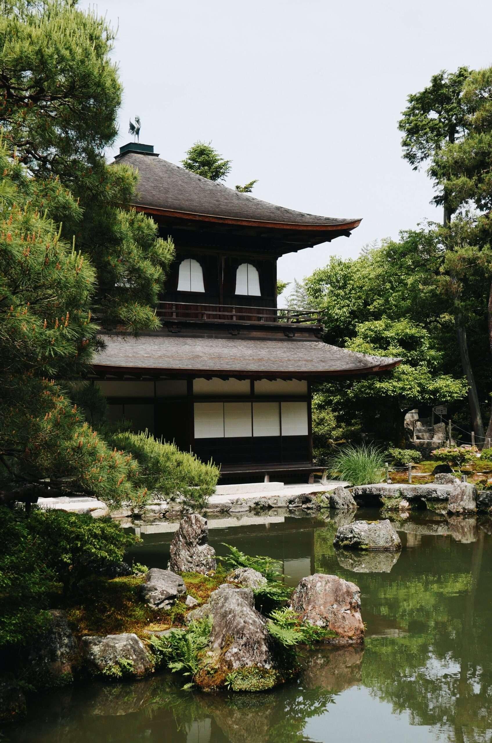 Ginkaku-ji Shrine and gardens in Kyoto