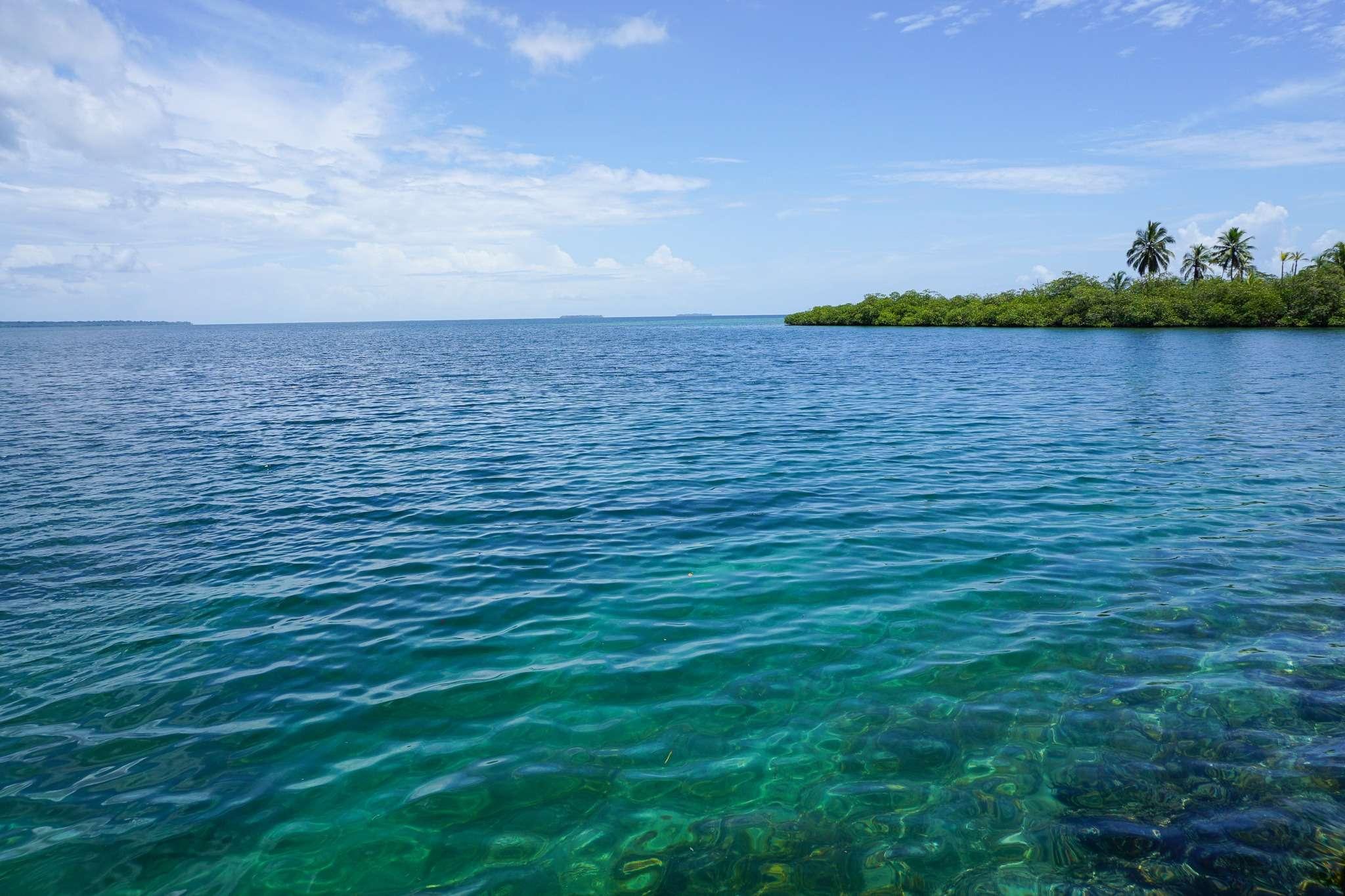 turquoise water in Bocas del Toro, Panama