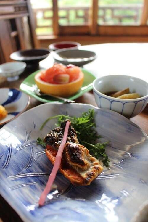 Breakfast at Yoshida Sanso Ryokan in Kyoto, Japan