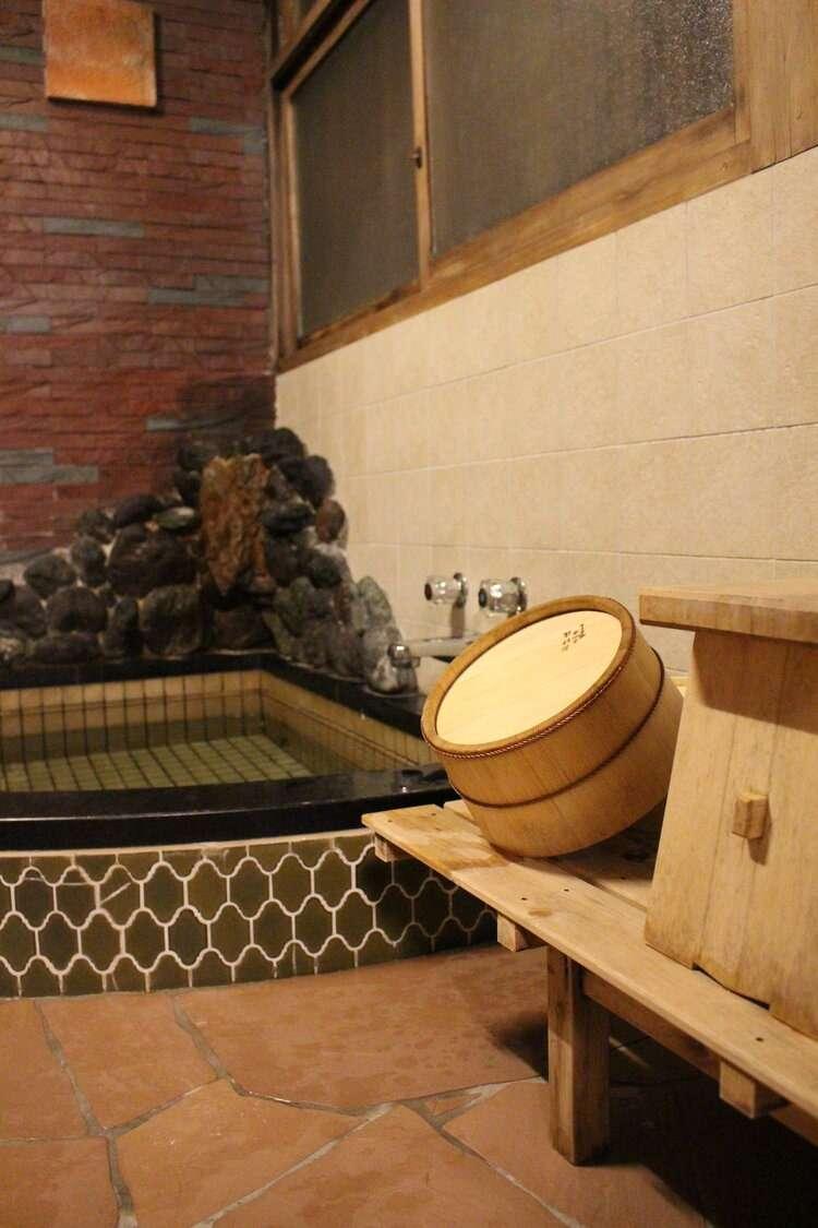 Baths at Yoshida Sanso Ryokan in Kyoto, Japan