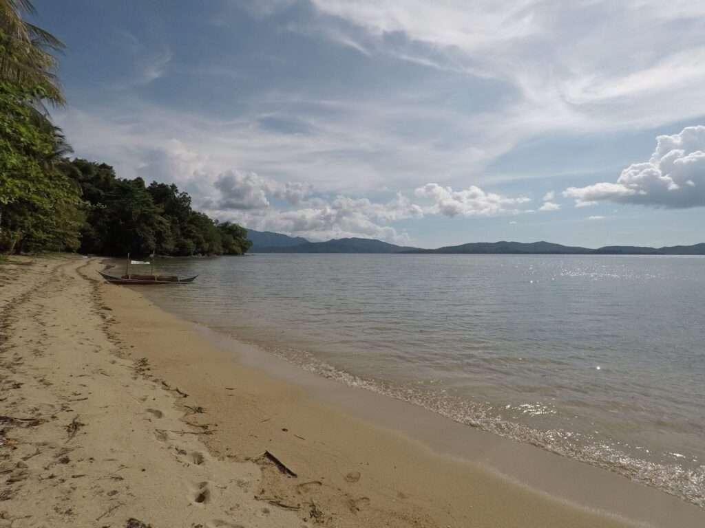 Private Beach at Atremaru Jungle Retreat in the Philippines