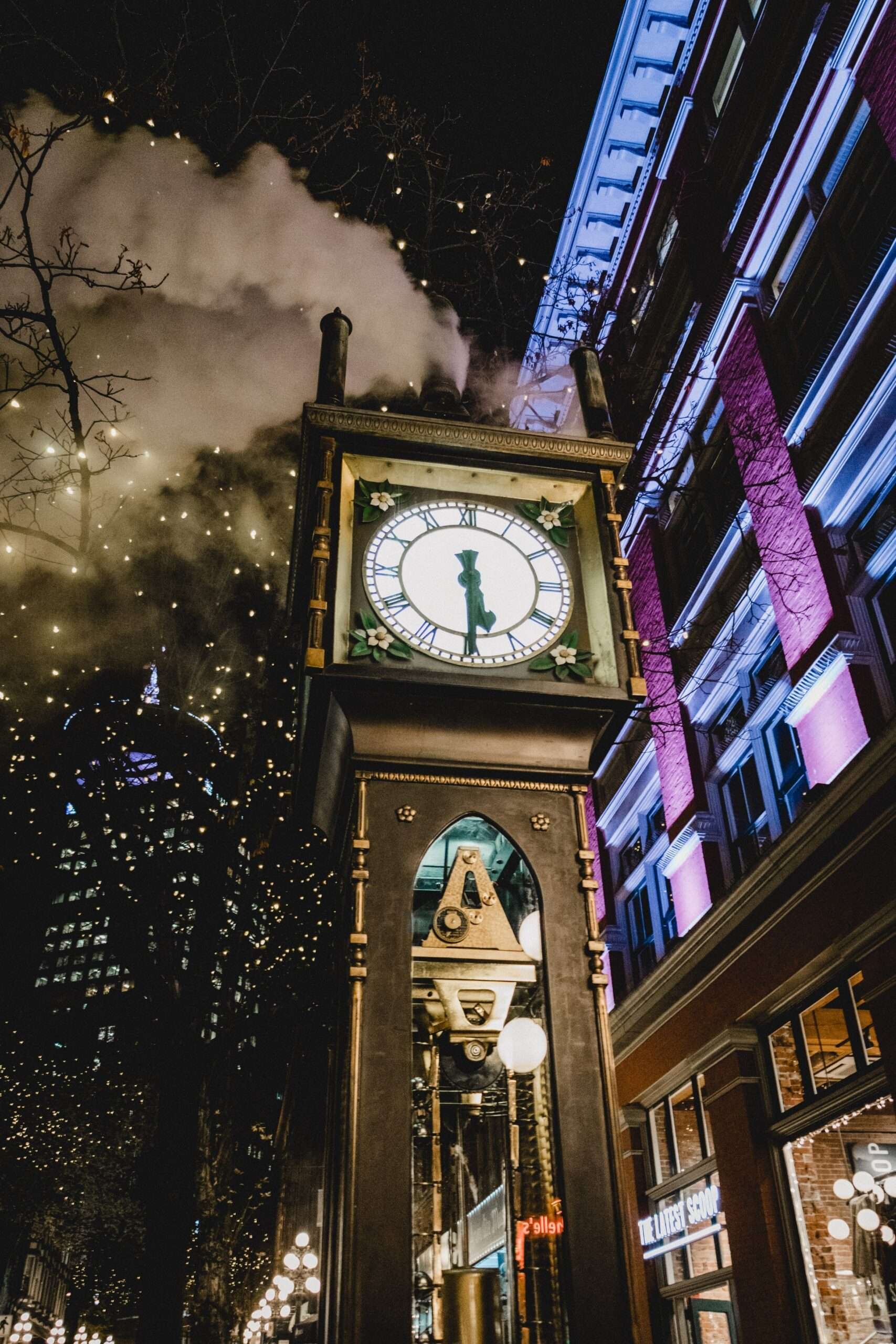 Clock in Gastown Vancouver