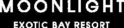Moonlight Exotic Bay Resort logo in white