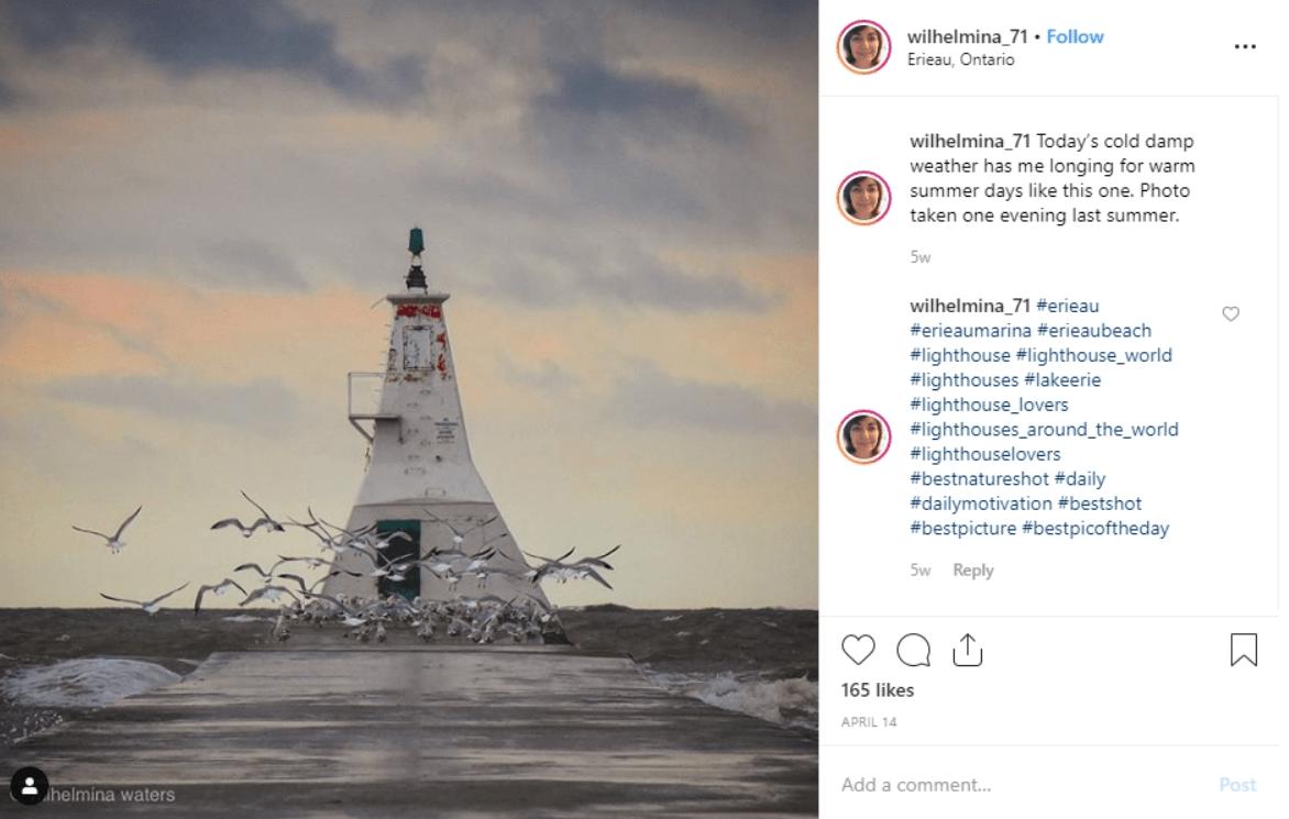 Lighthouse in Erieau, Ontario