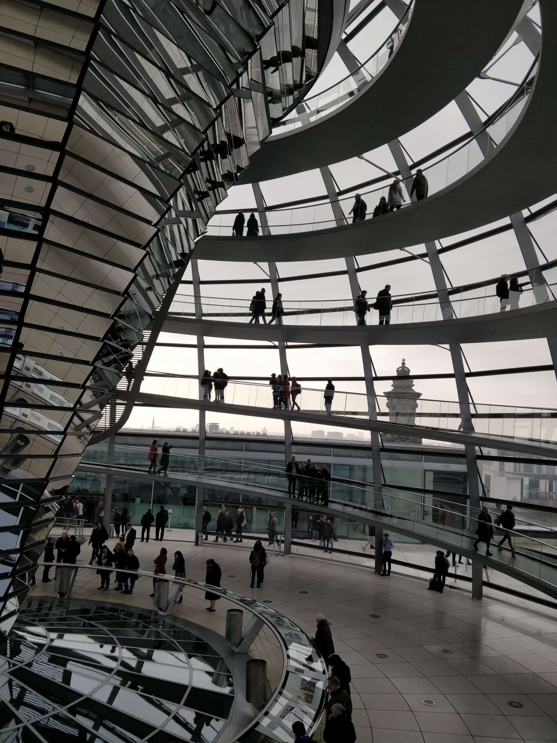 Inside the Reichstag building in Berlin