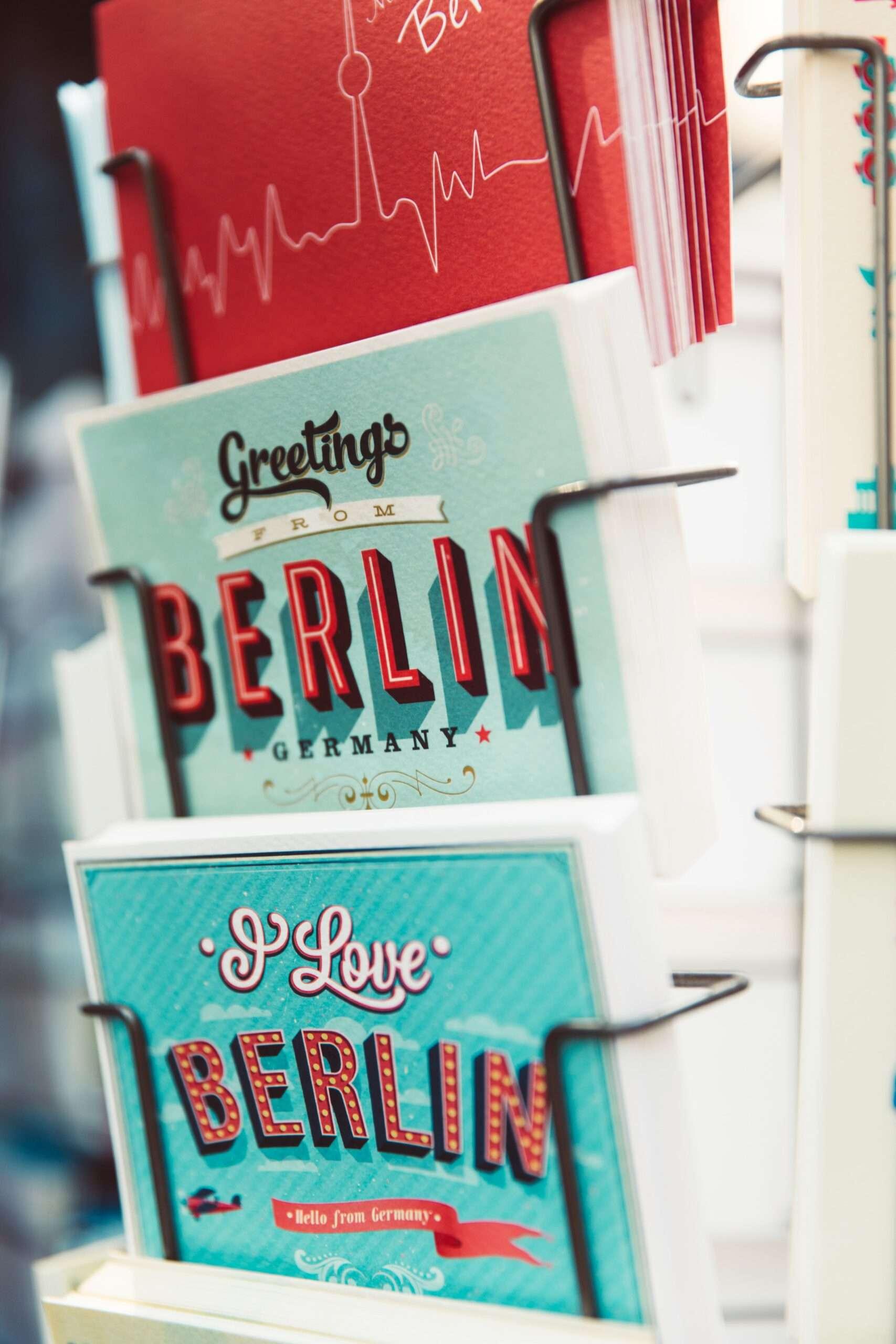 postcards in Berlin