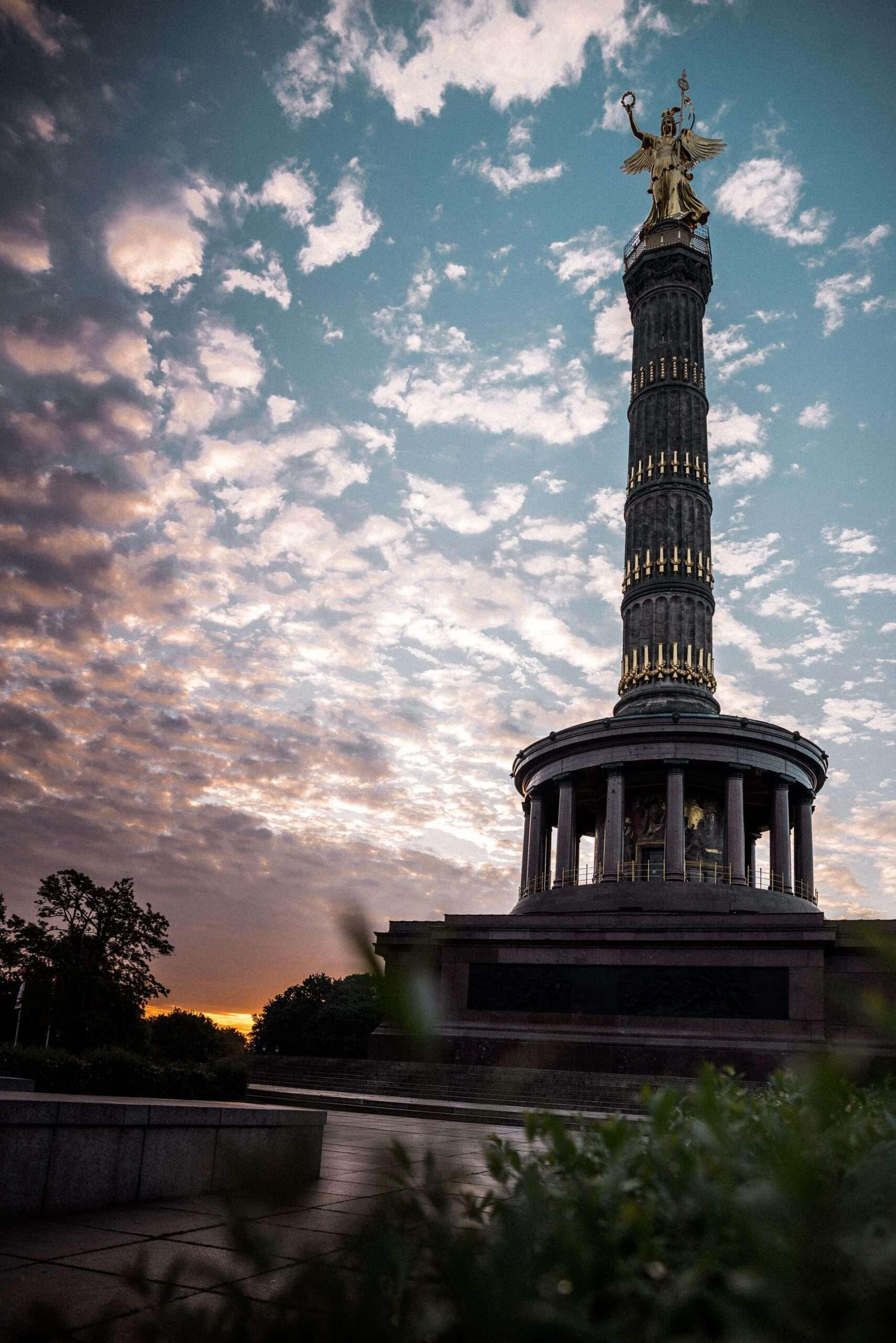 victory column at sunset, Berlin